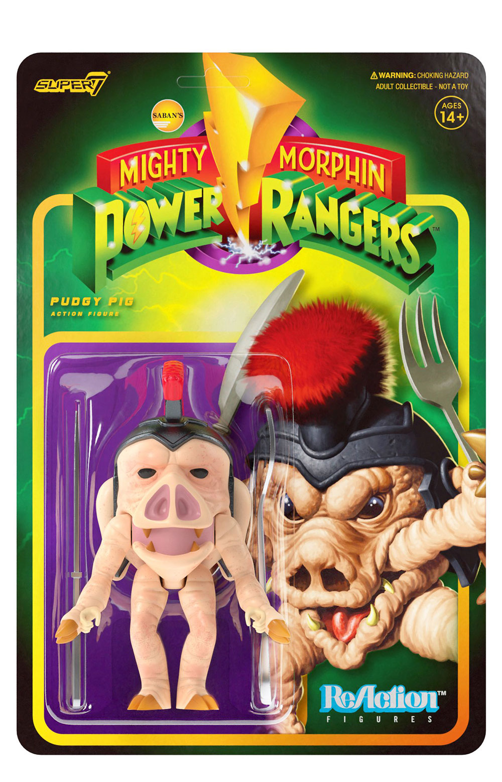 Mighty Morphin Power Rangers Reaction Figure Wave 1 - Pudgy Pig 2