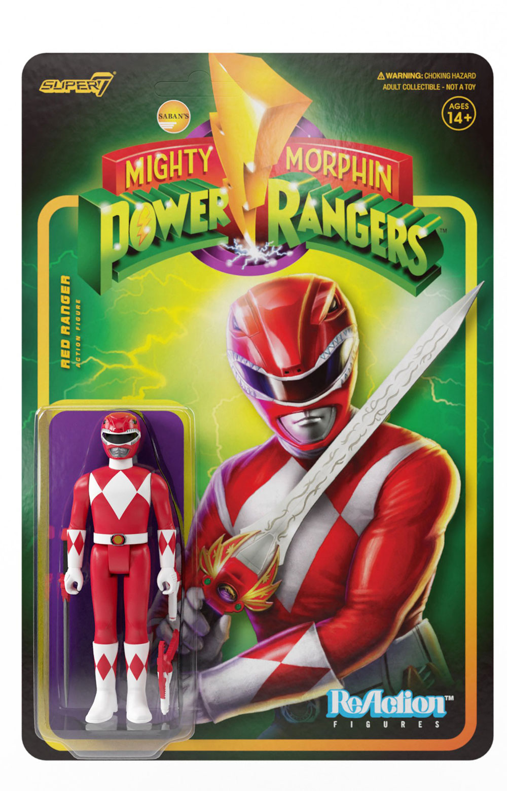 Mighty Morphin Power Rangers Reaction Figure Wave 1 - Red Rangers  4