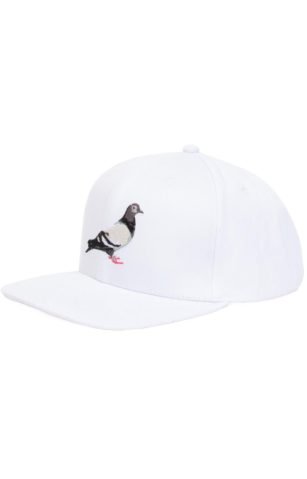 Pigeon Snap-Back Hat - White