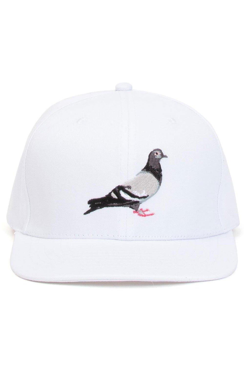 Pigeon Snap-Back Hat - White  2