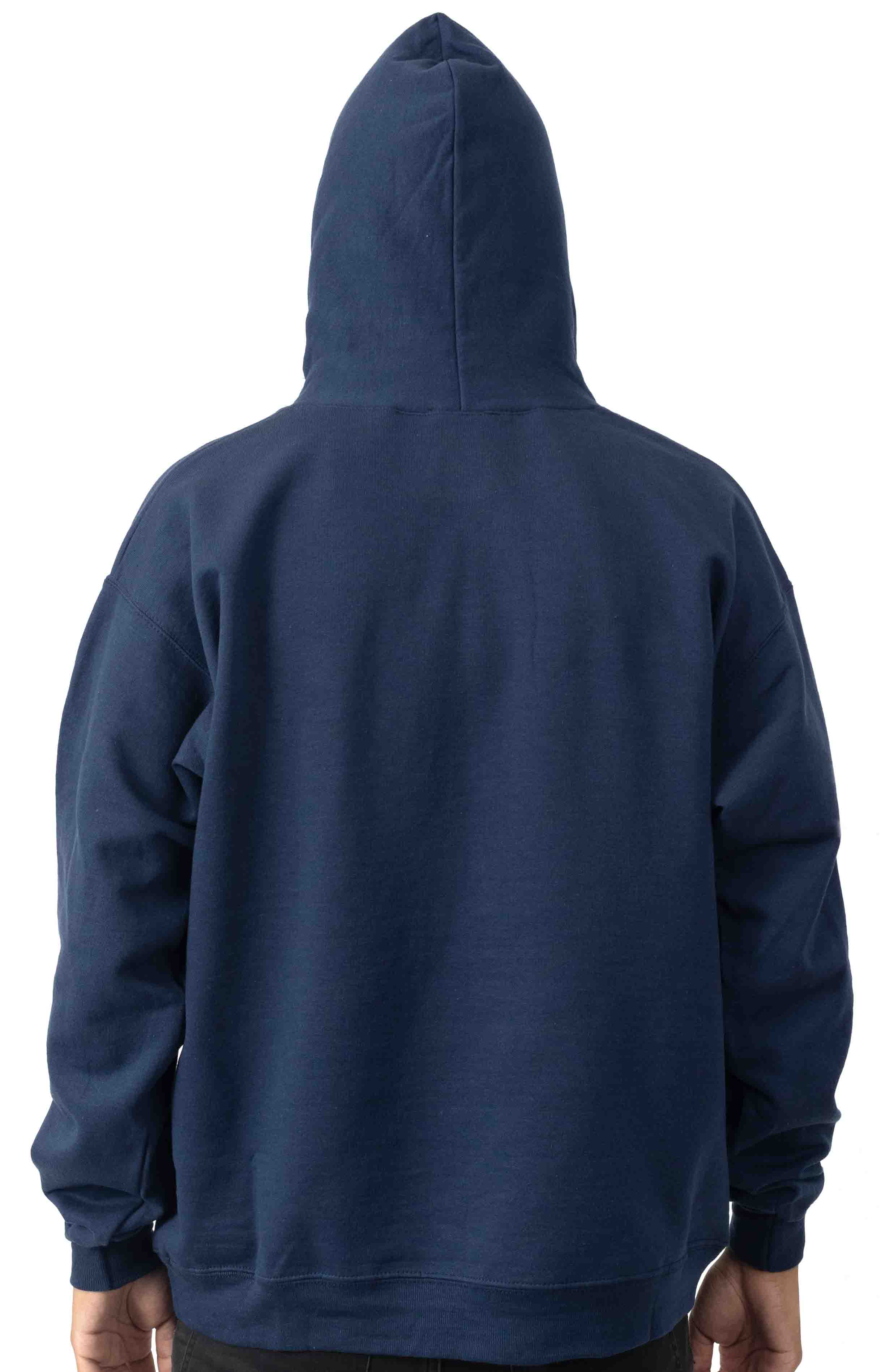 Fire Logo Pullover Hoodie - Navy  3