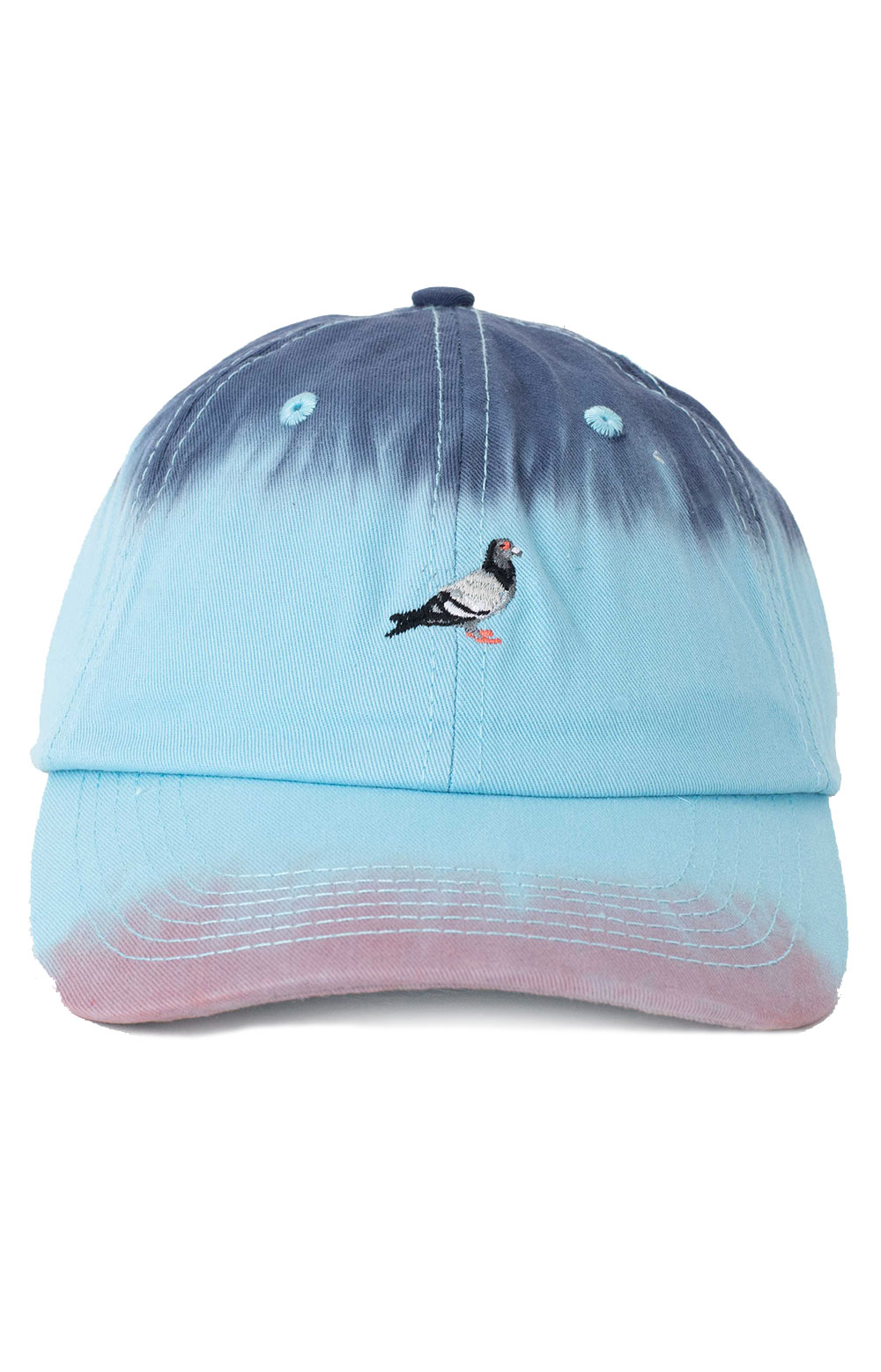 Dyed Panel Dad Hat - Teal  2