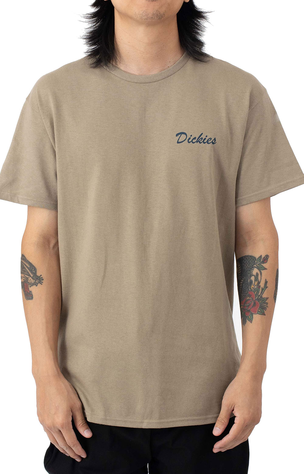 (WSS21S9) On The Job Graphic T-Shirt - Sand  2