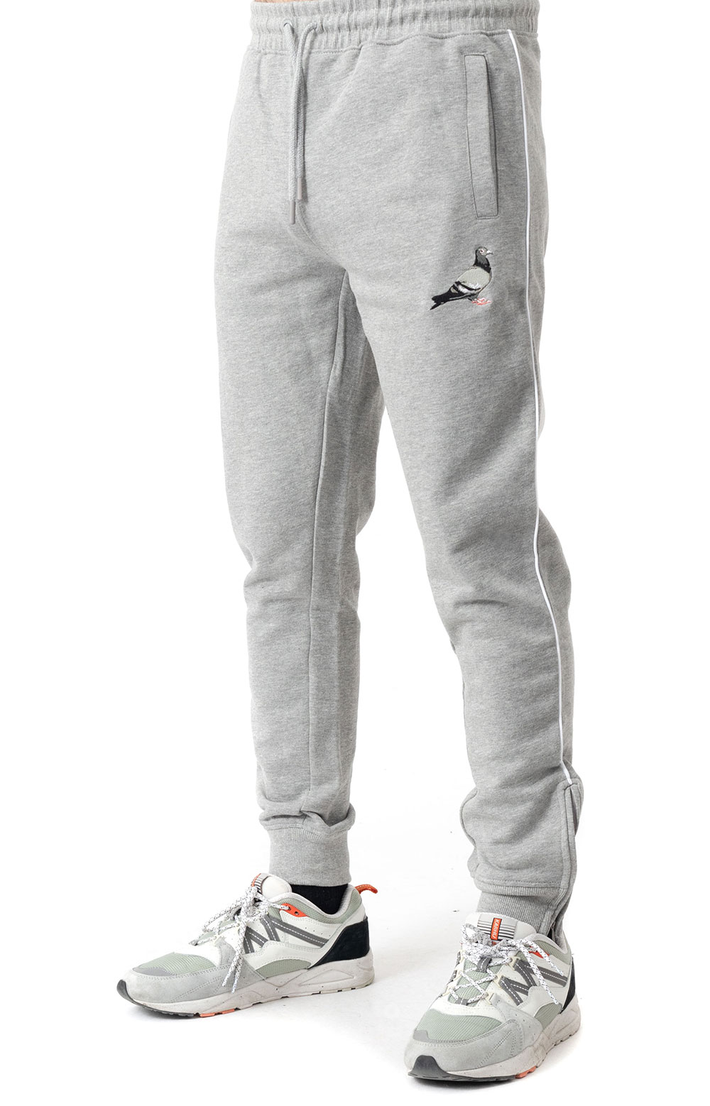 Piped Sweatpant - Heather Grey