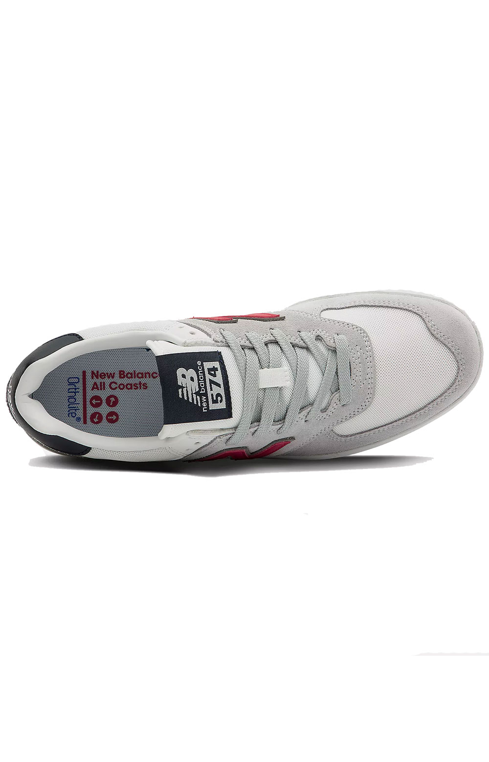 (AM574AGS) All Coasts AM574 Shoes - Grey/Red 3