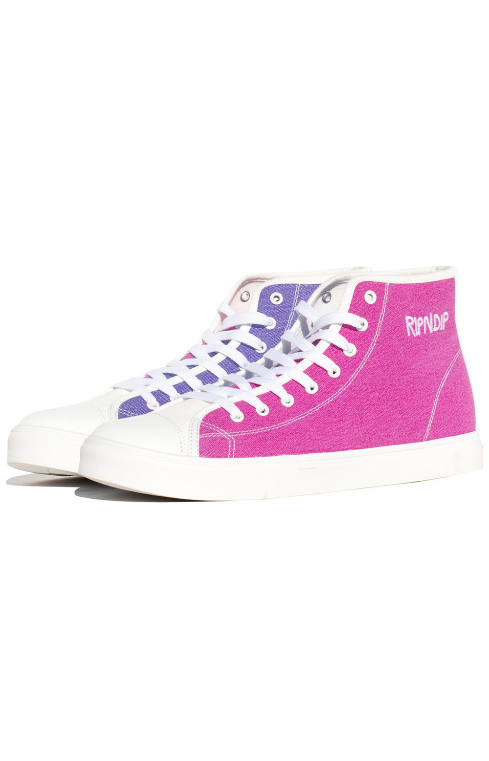 Lord Nermal UV Activated High Tops - Blue/Fuschia  2