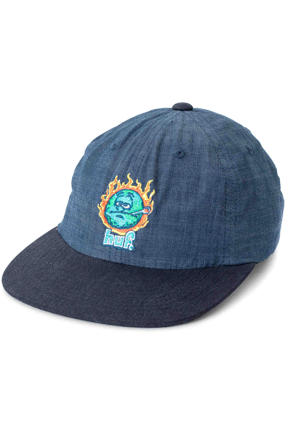 Global Warming 6 Panel Hat - Blue Chambray