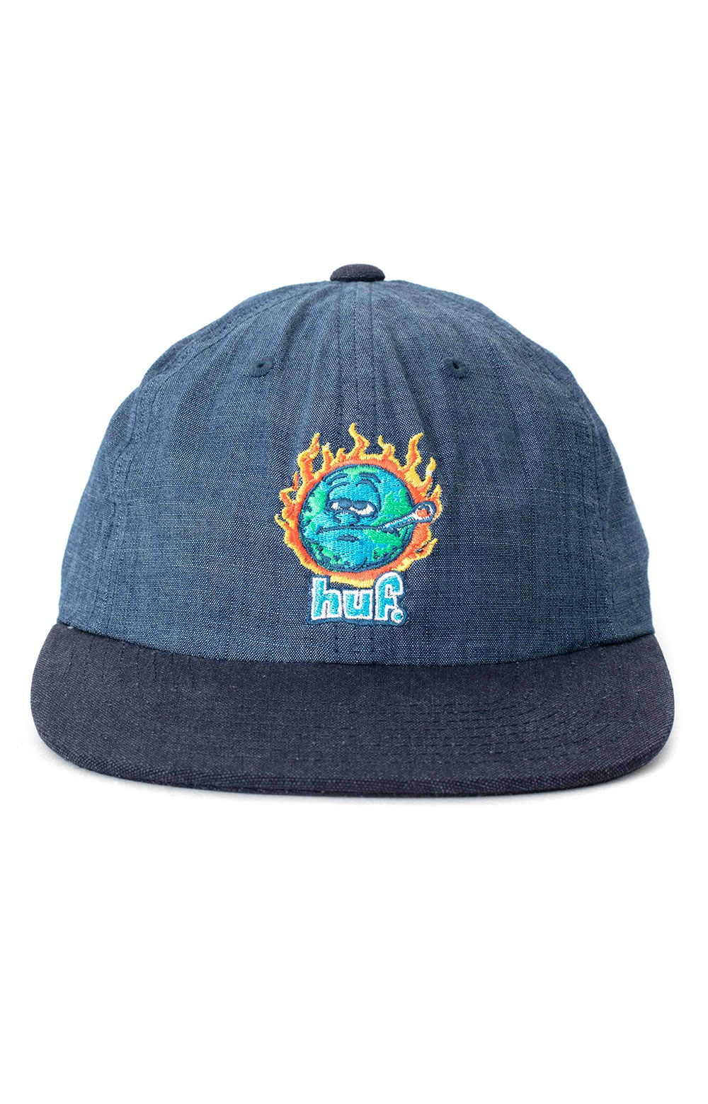 Global Warming 6 Panel Hat - Blue Chambray 2