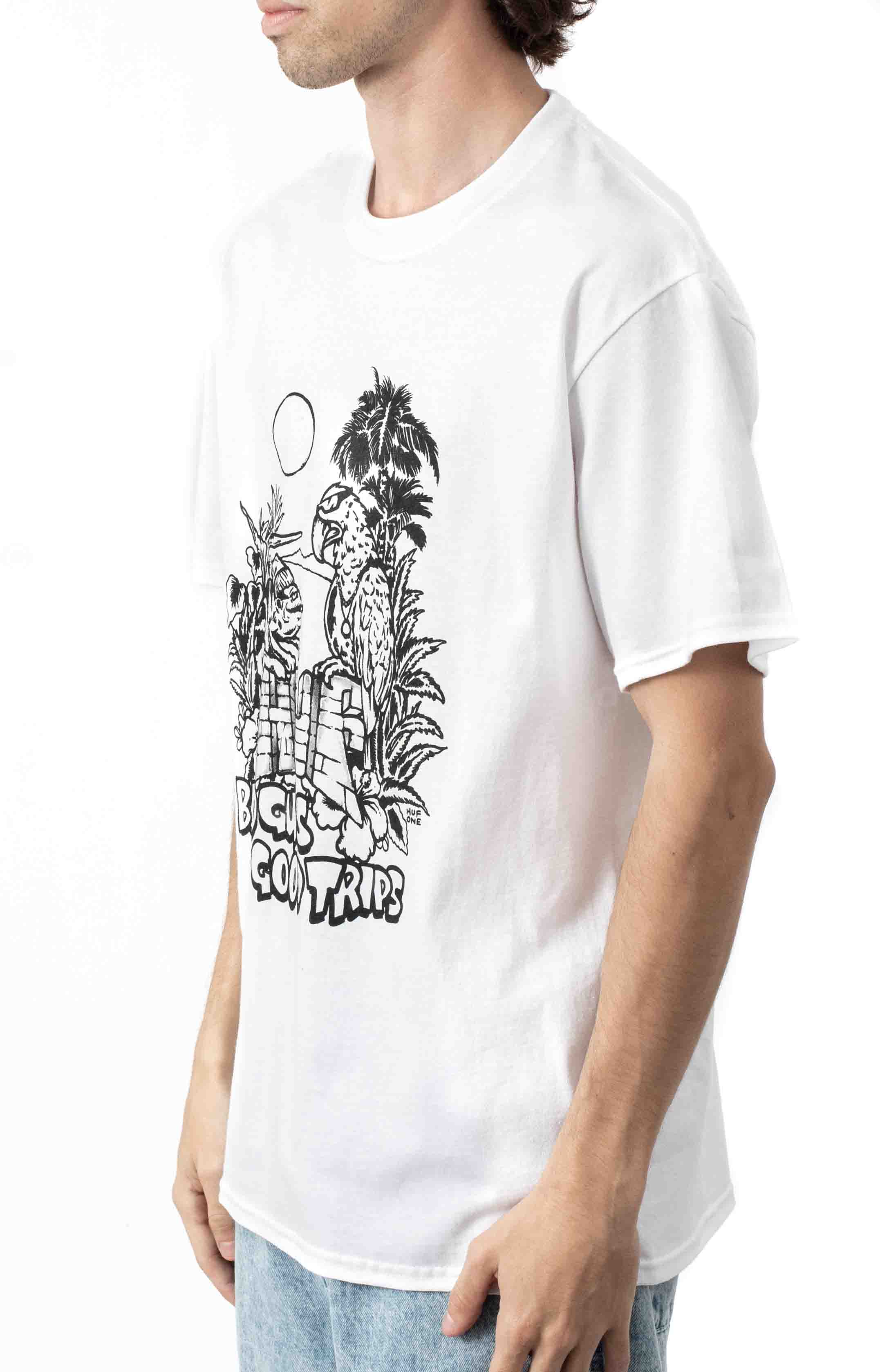 Vacation UV Color T-Shirt - White  2