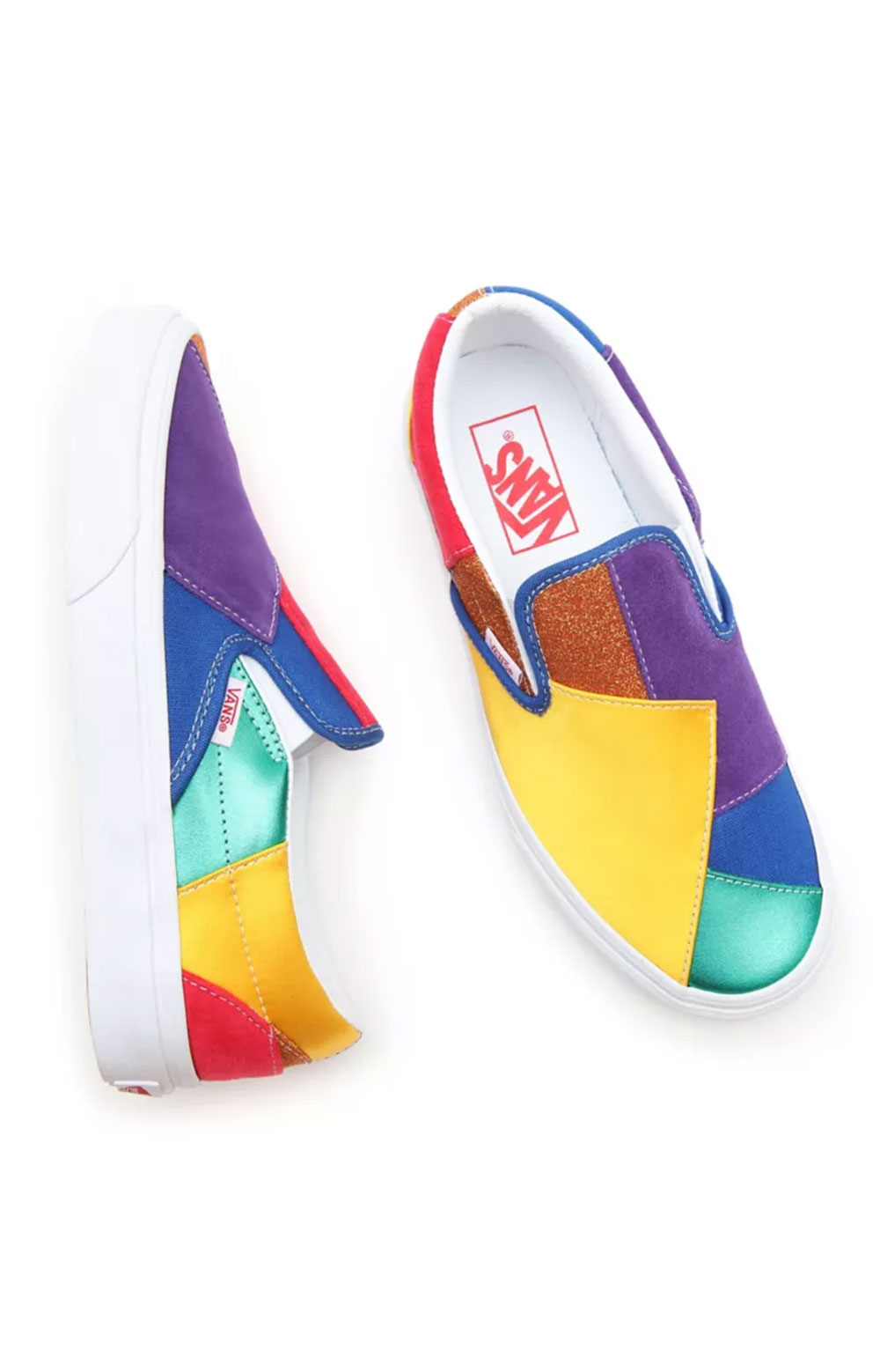 (3TB44B) Pride Classic Slip-On Shoes - Patchwork  2