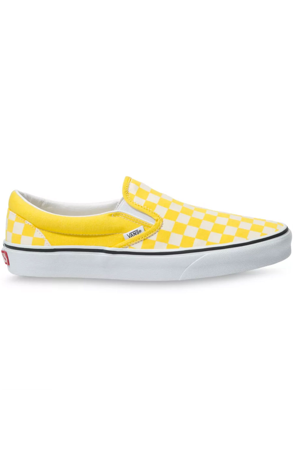 (3TB42Z) Checkerboard Classic Slip-On Shoes - Cyber Yellow