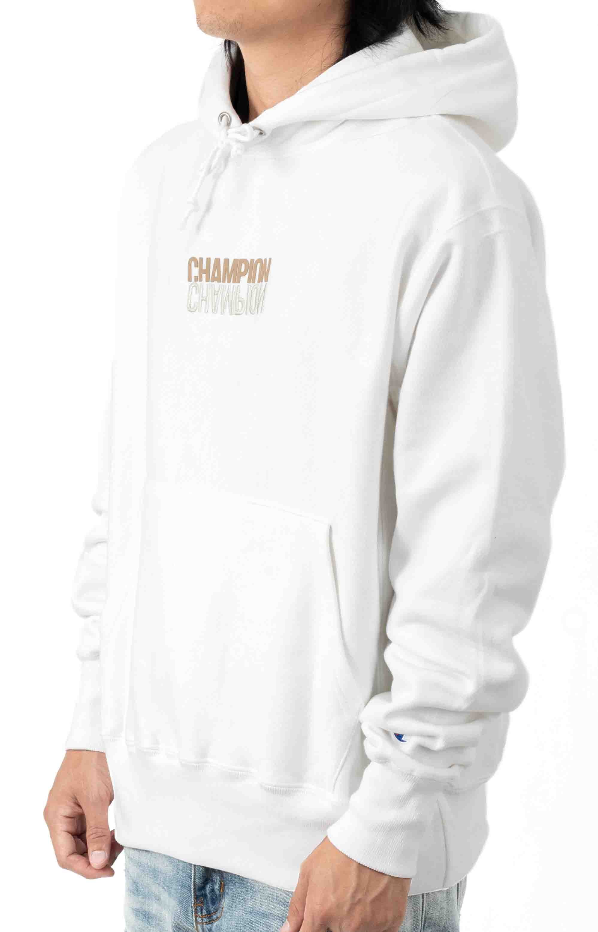 Reflective Logo Pullover Hoodie - White  2