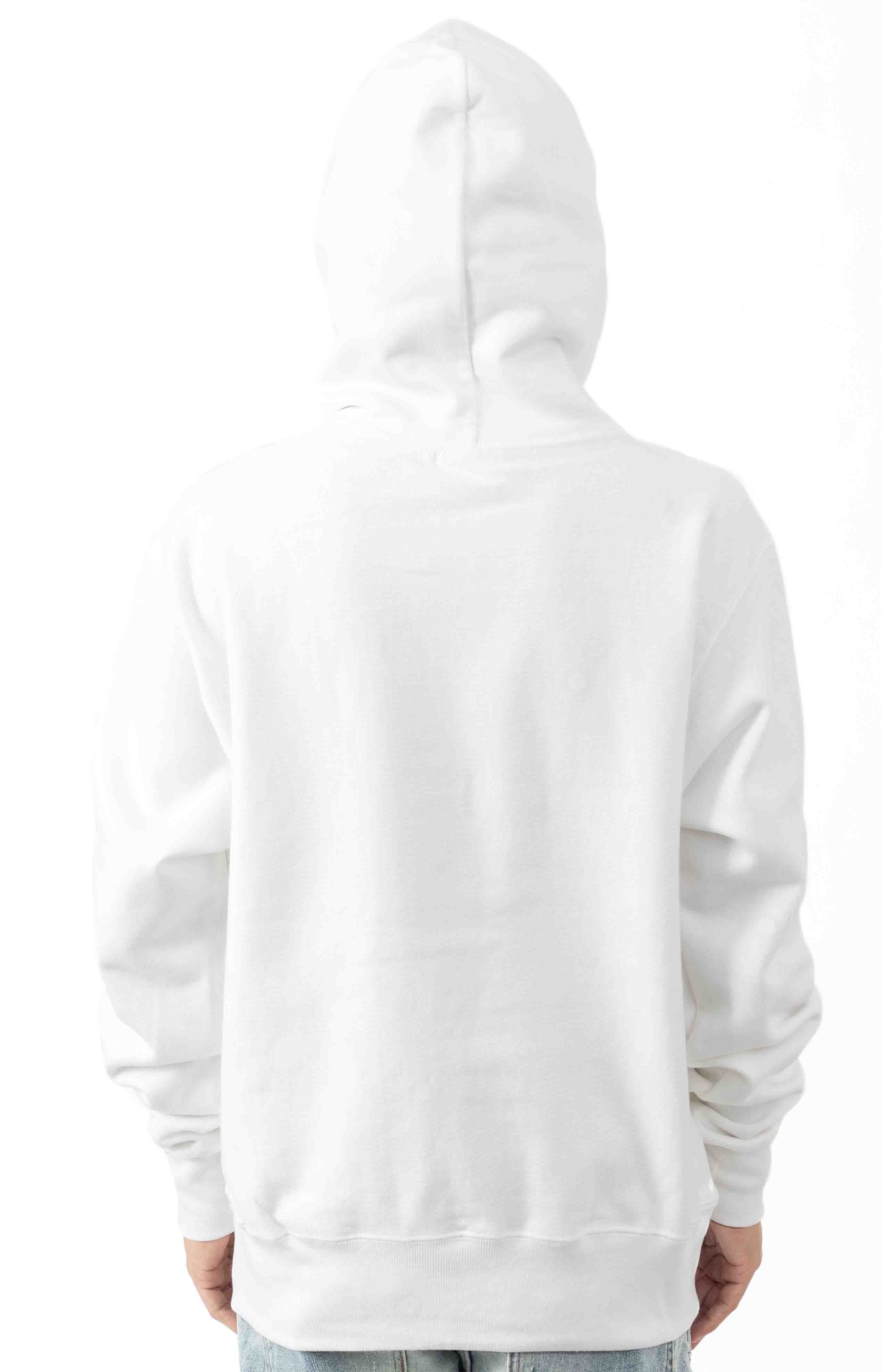 Reflective Logo Pullover Hoodie - White  3