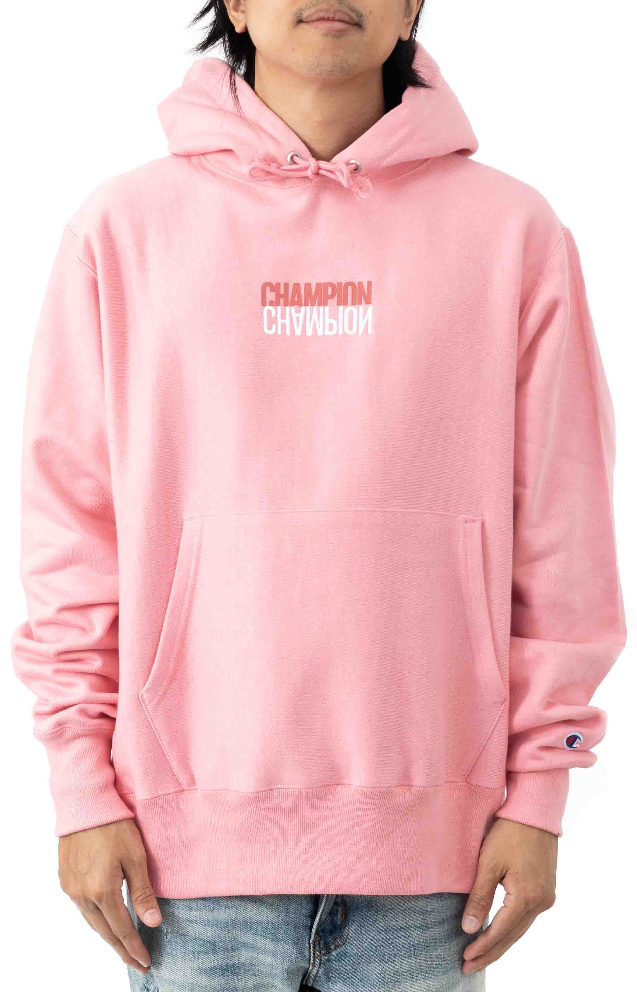 Reflective Logo Pullover Hoodie - Guava Pink