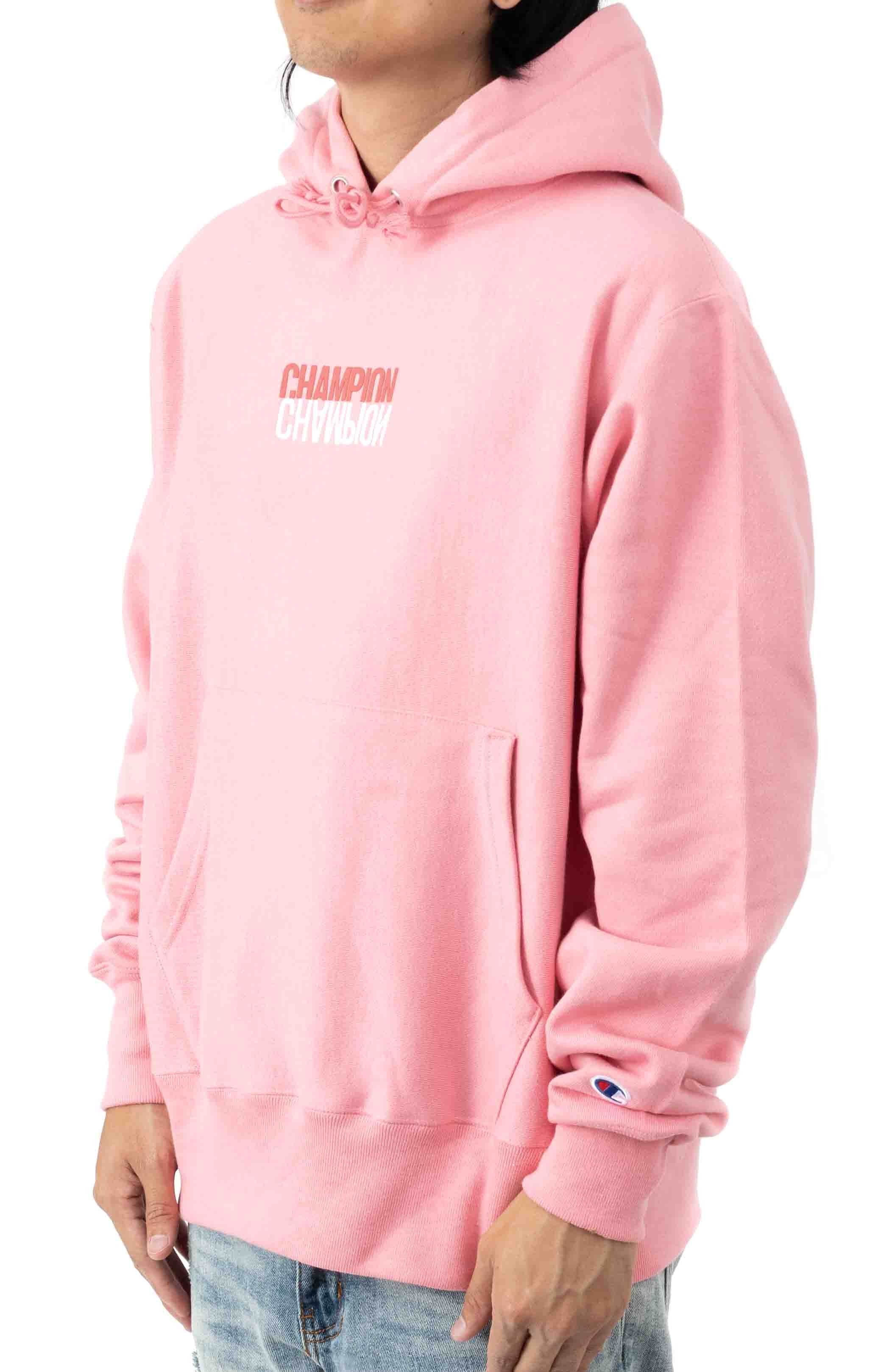 Reflective Logo Pullover Hoodie - Guava Pink 2