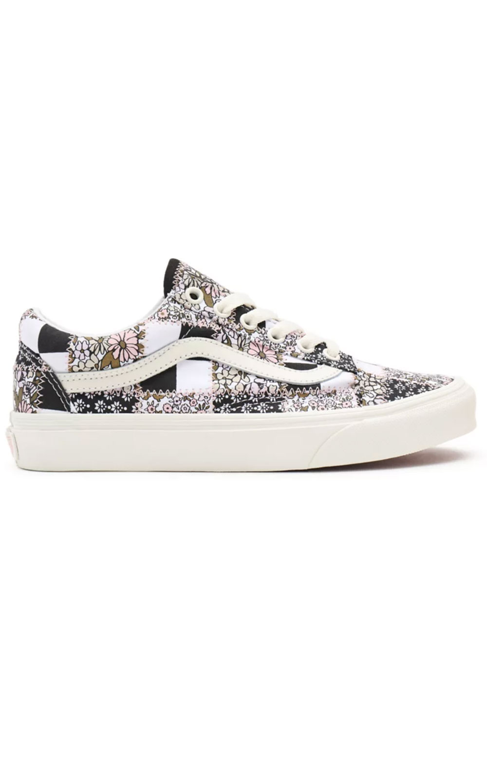 (8G19FY) Patchwork Floral Old Skool Shoes - Multi/Marshmallow