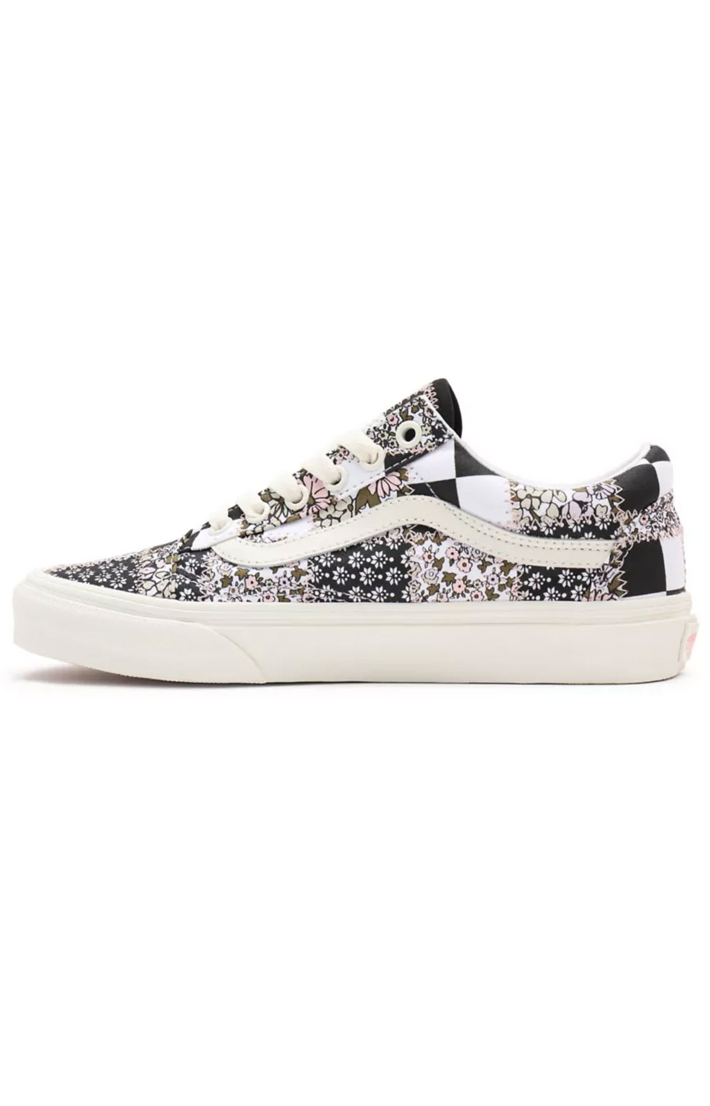 (8G19FY) Patchwork Floral Old Skool Shoes - Multi/Marshmallow  2