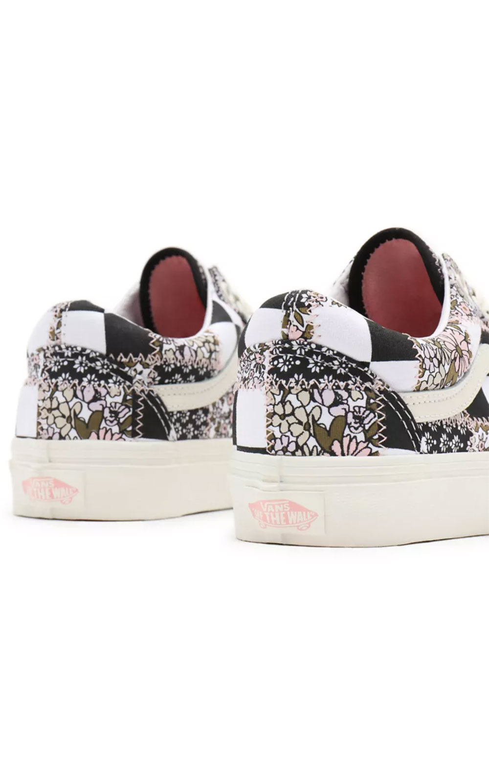 (8G19FY) Patchwork Floral Old Skool Shoes - Multi/Marshmallow  4