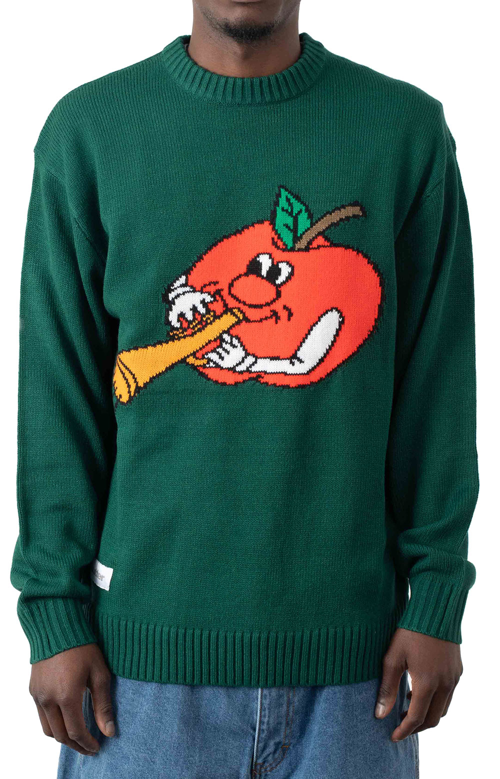 Apple Knit Sweater - Forest Green