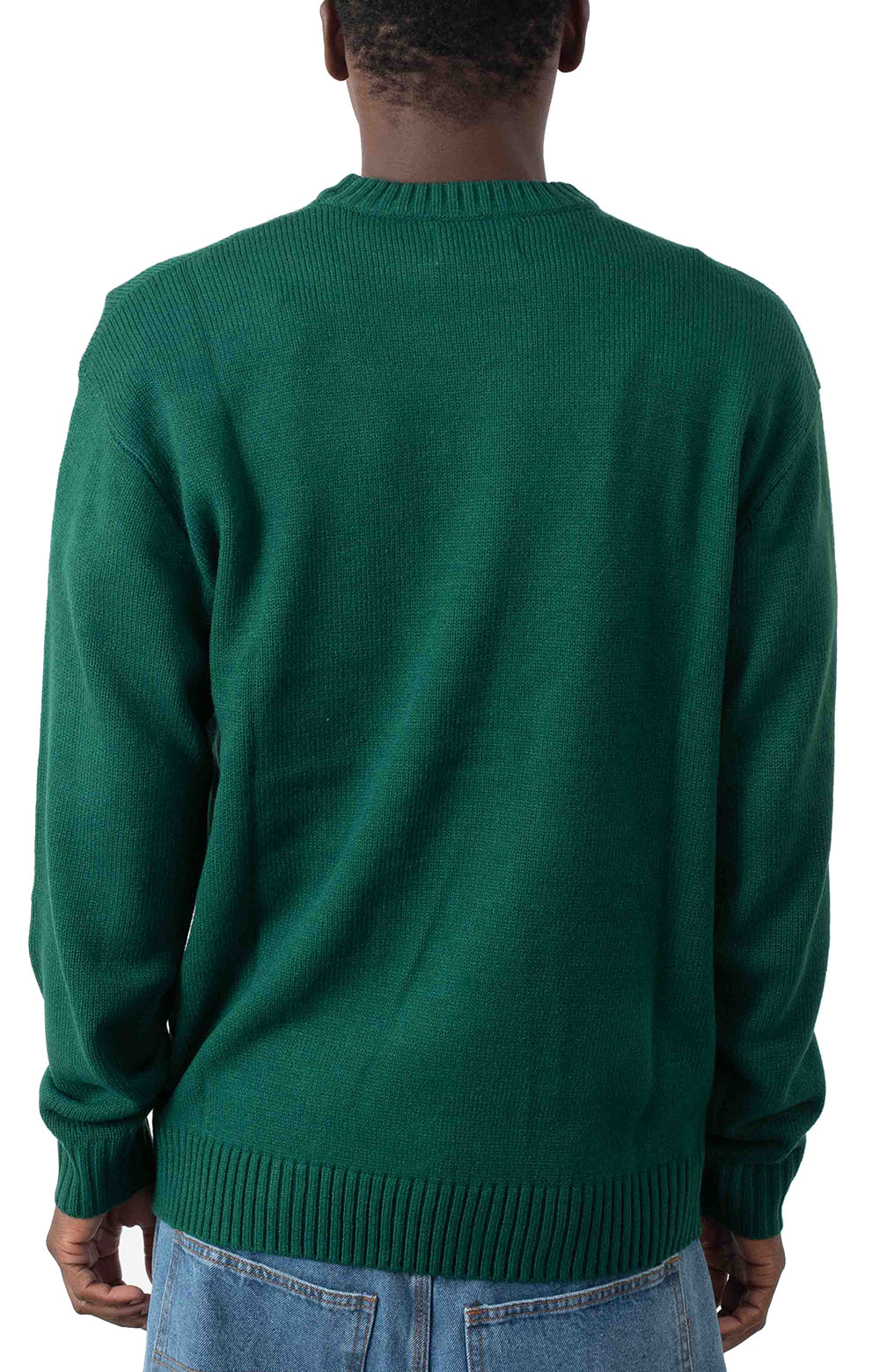 Apple Knit Sweater - Forest Green  3
