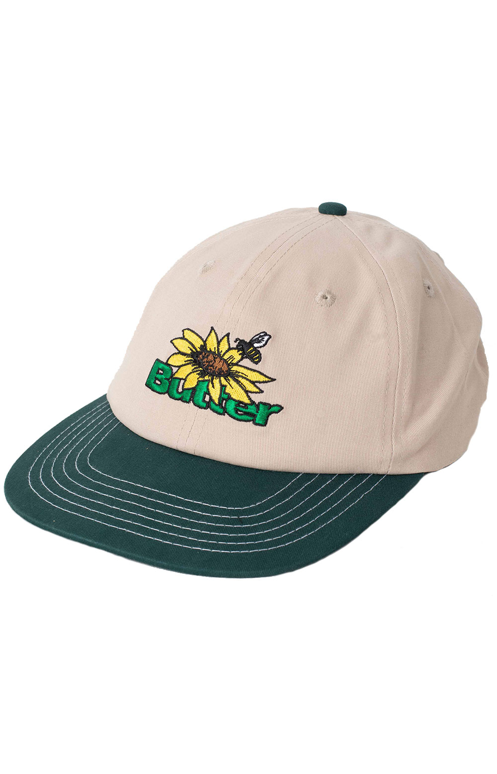 Sunflower 6 Panel Hat - Natural/Forest