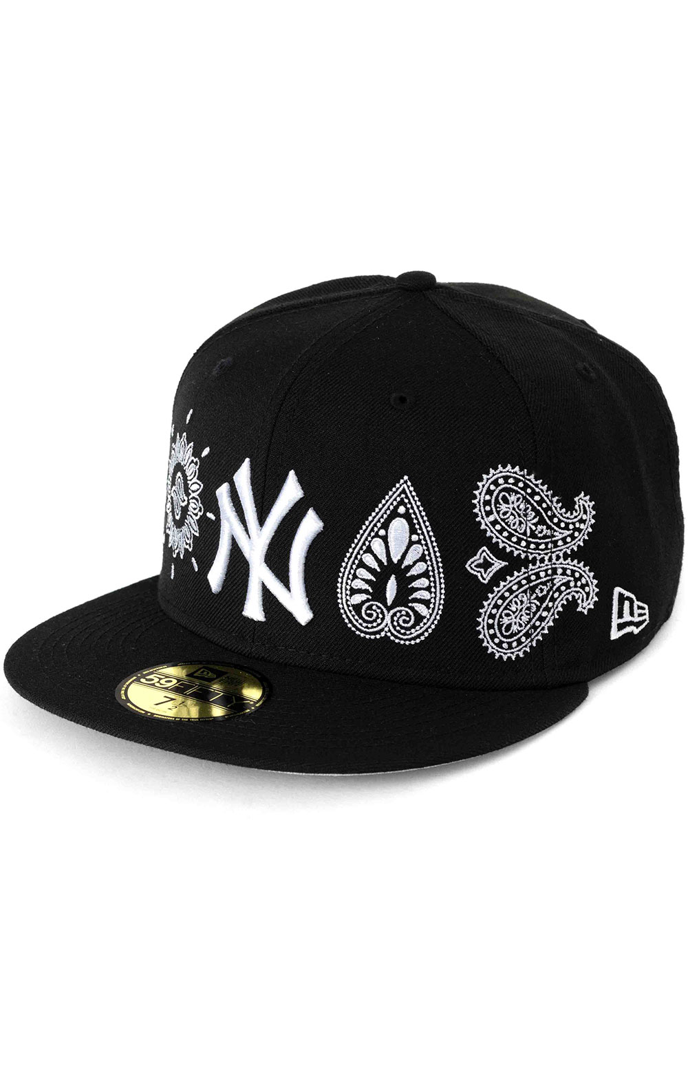 59Fifty New York Yankees Paisley Elements Fitted Hat - Black