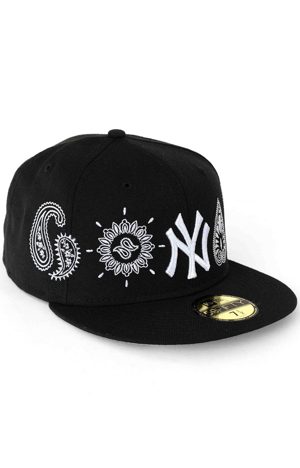 59Fifty New York Yankees Paisley Elements Fitted Hat - Black  3