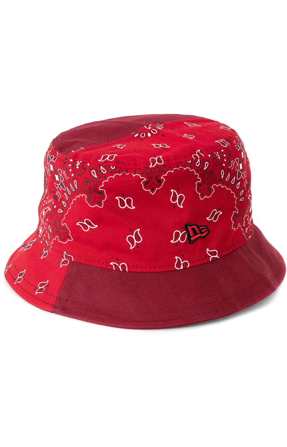 Paisley Patchwork Bucket Hat - Red