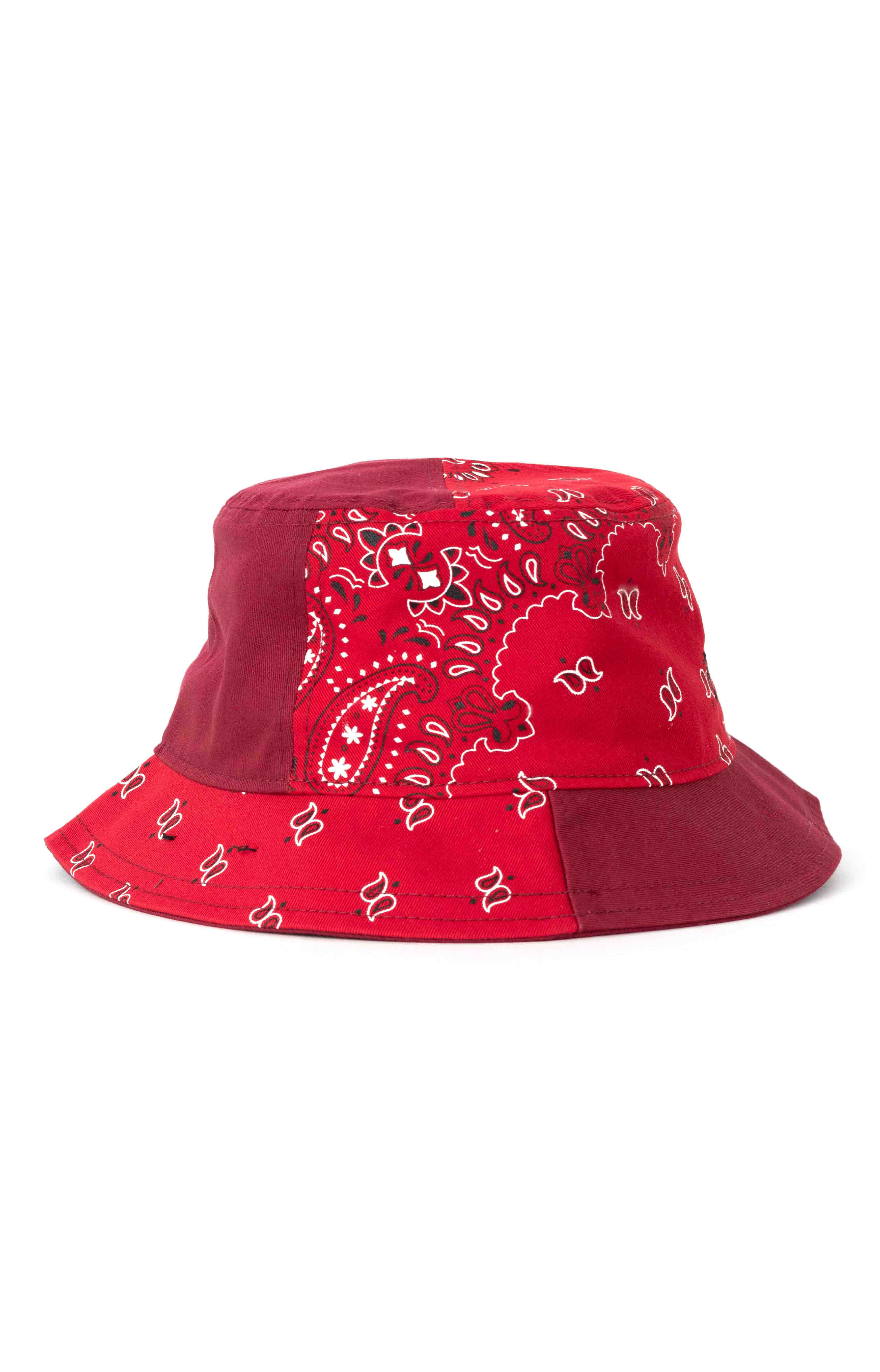 Paisley Patchwork Bucket Hat - Red 2