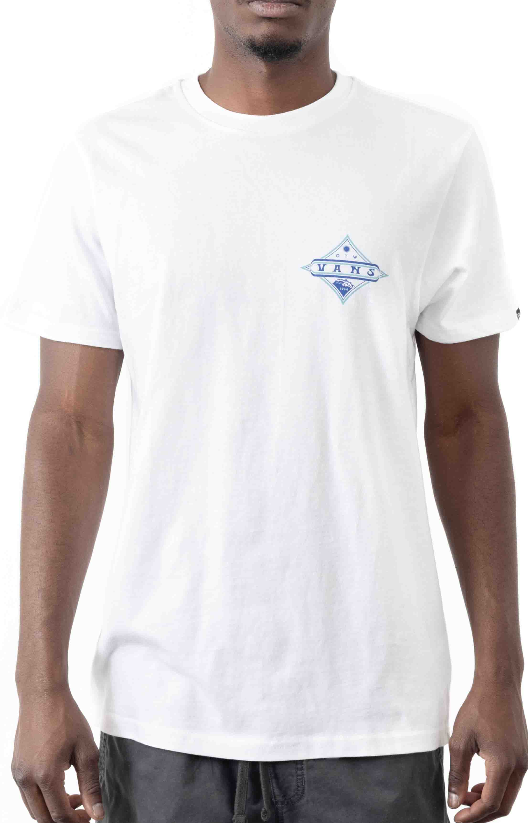 Vintage Pointed Shaper T-Shirt - White  2