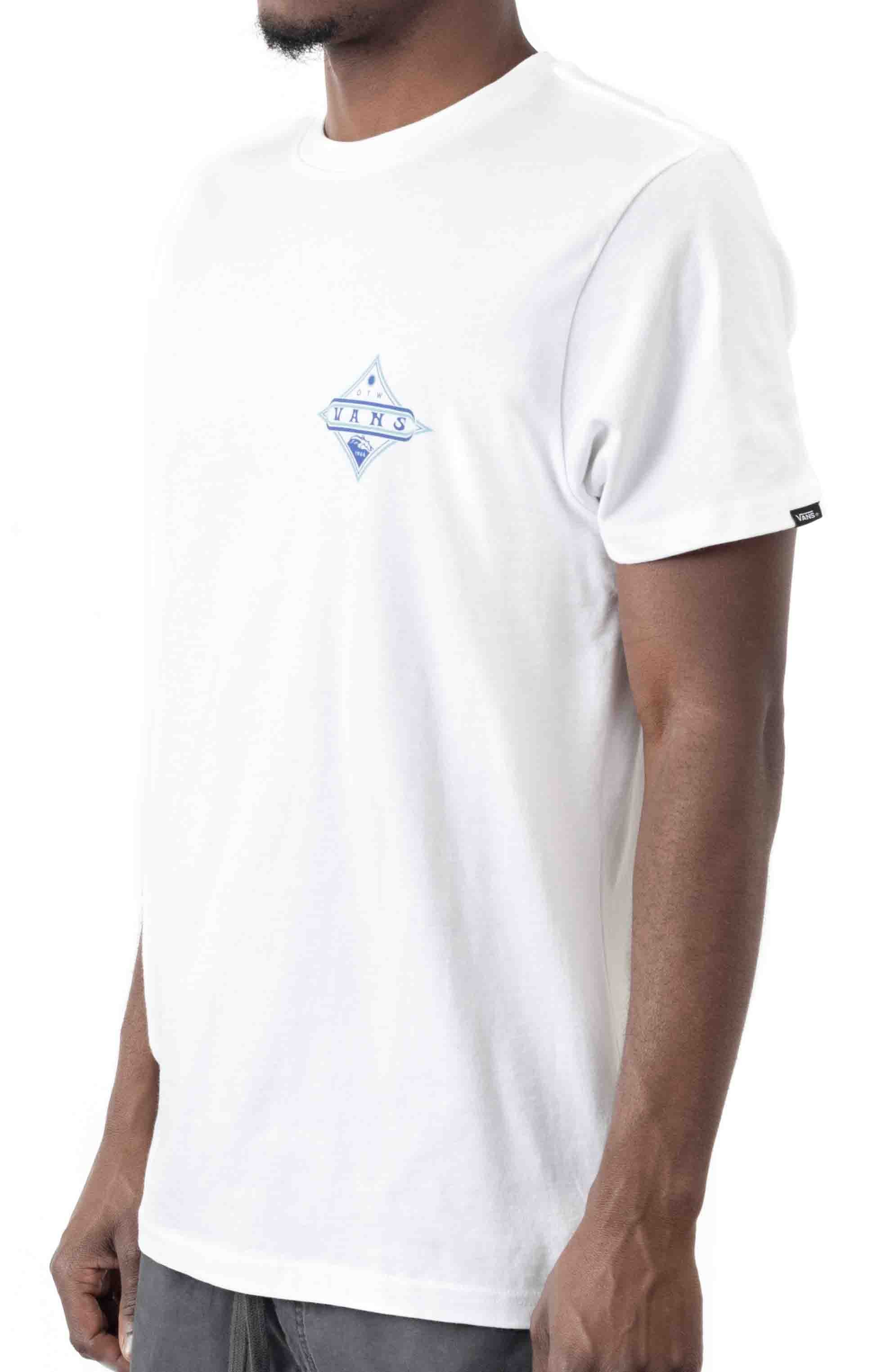 Vintage Pointed Shaper T-Shirt - White  3