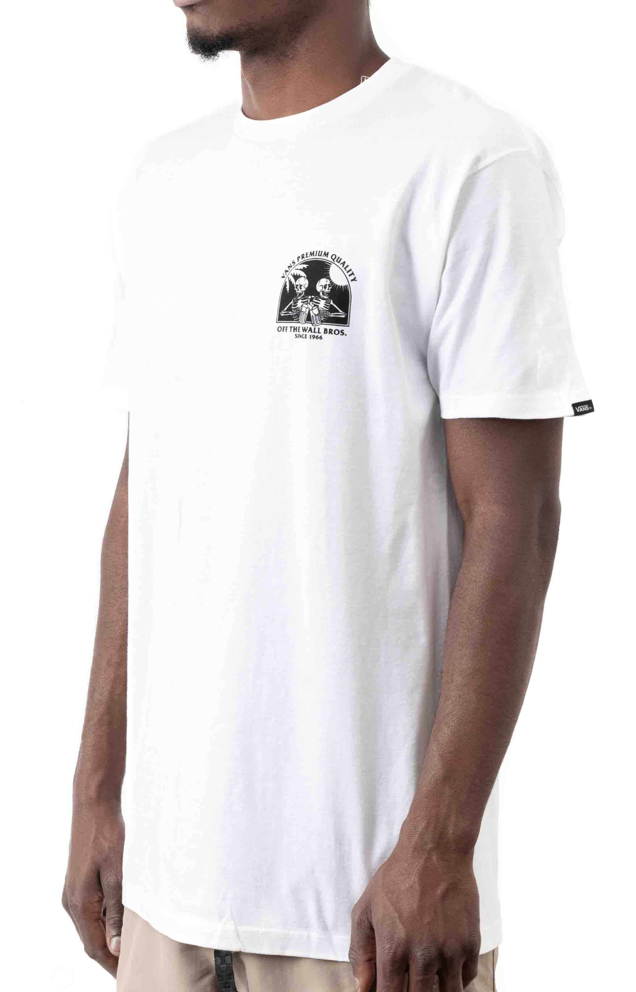 Off The Wall Bros T-Shirt - White  2