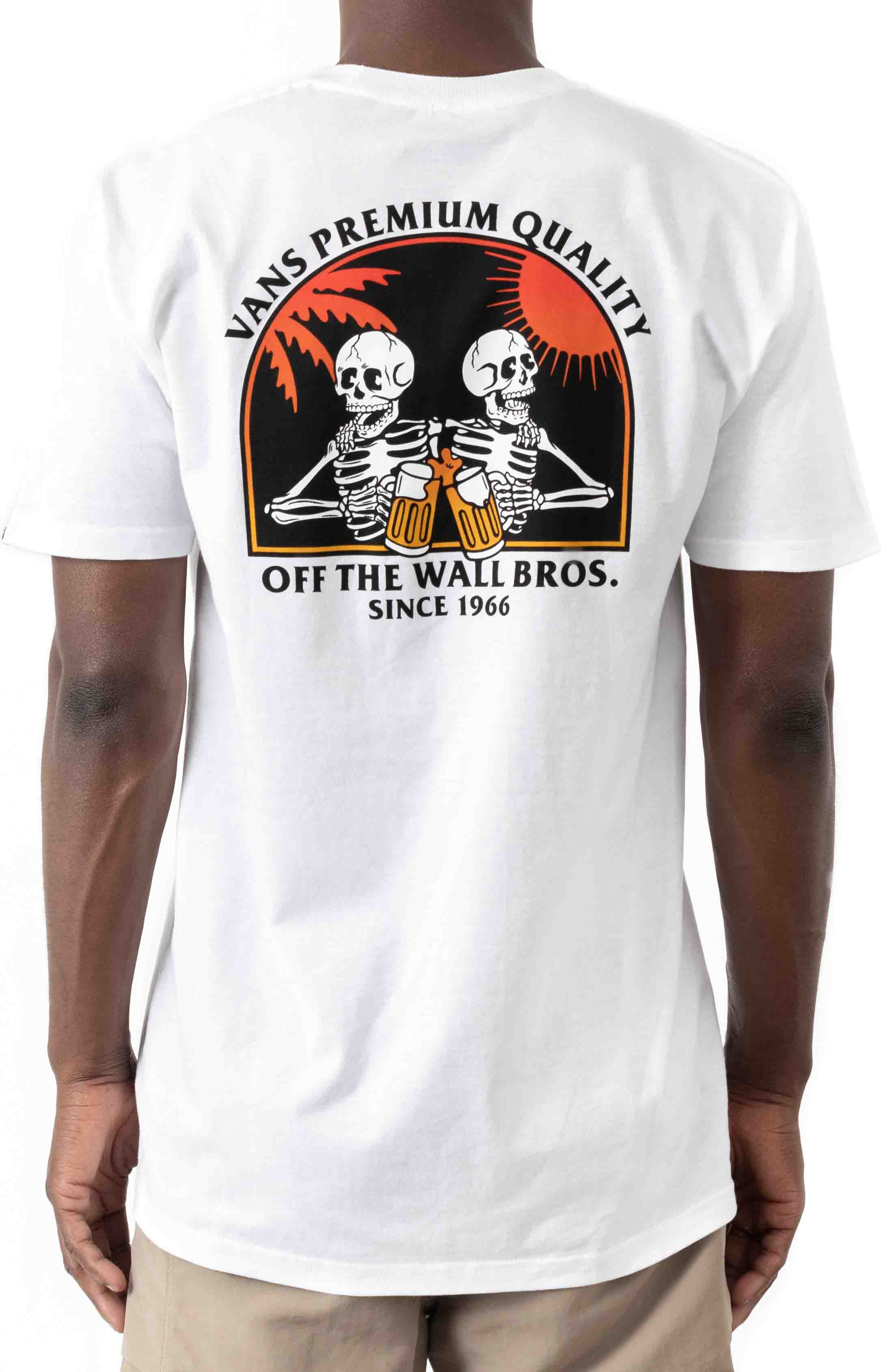Off The Wall Bros T-Shirt - White  3