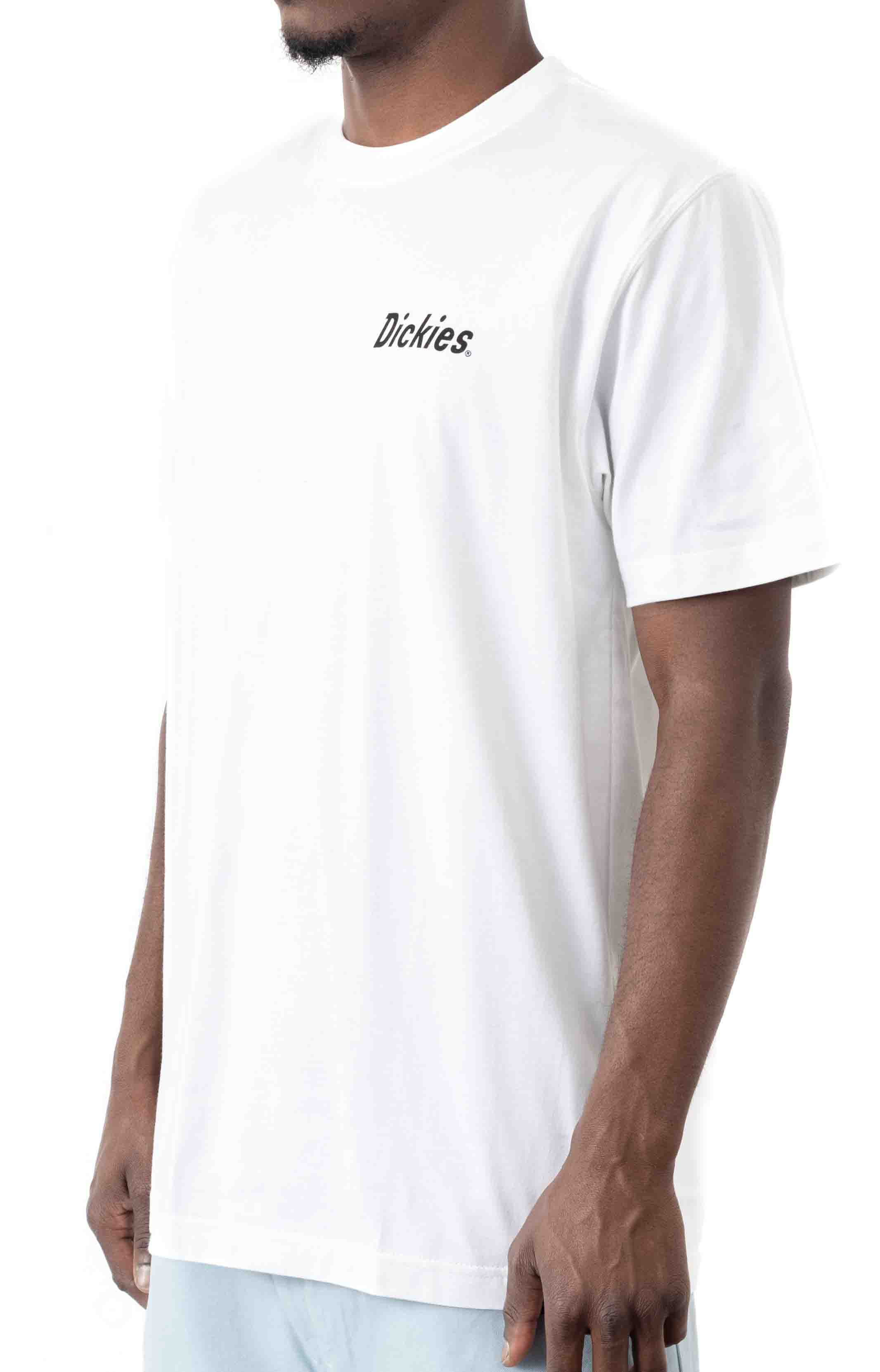 (WS33WH) Short Sleeve Relaxed Fit Graphic T-Shirt - White  2