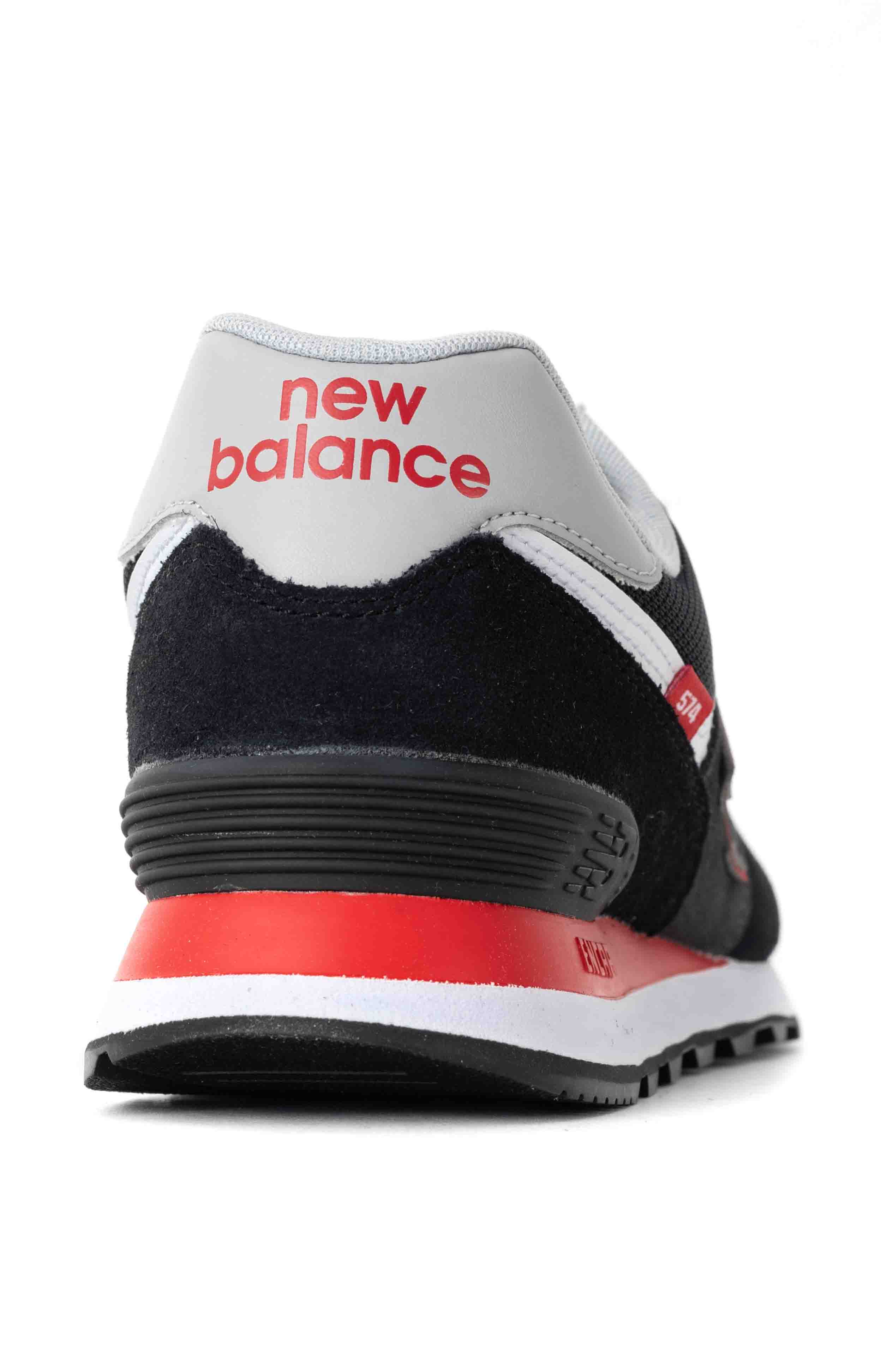 (ML574SM2) 574 Shoes - Black/Velocity Red 5
