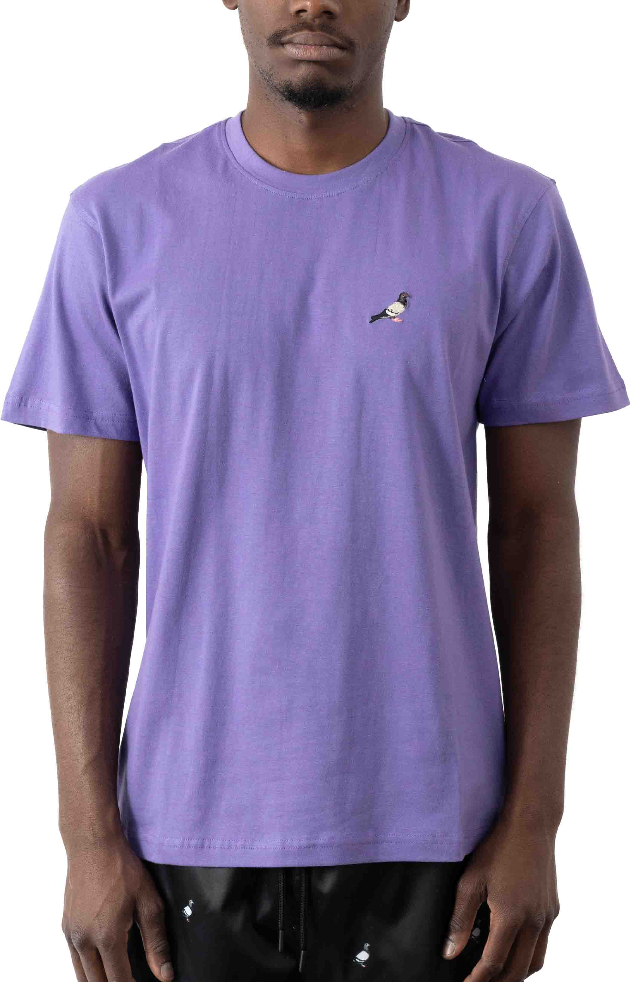 Embroidered Pigeon T-Shirt - Violet