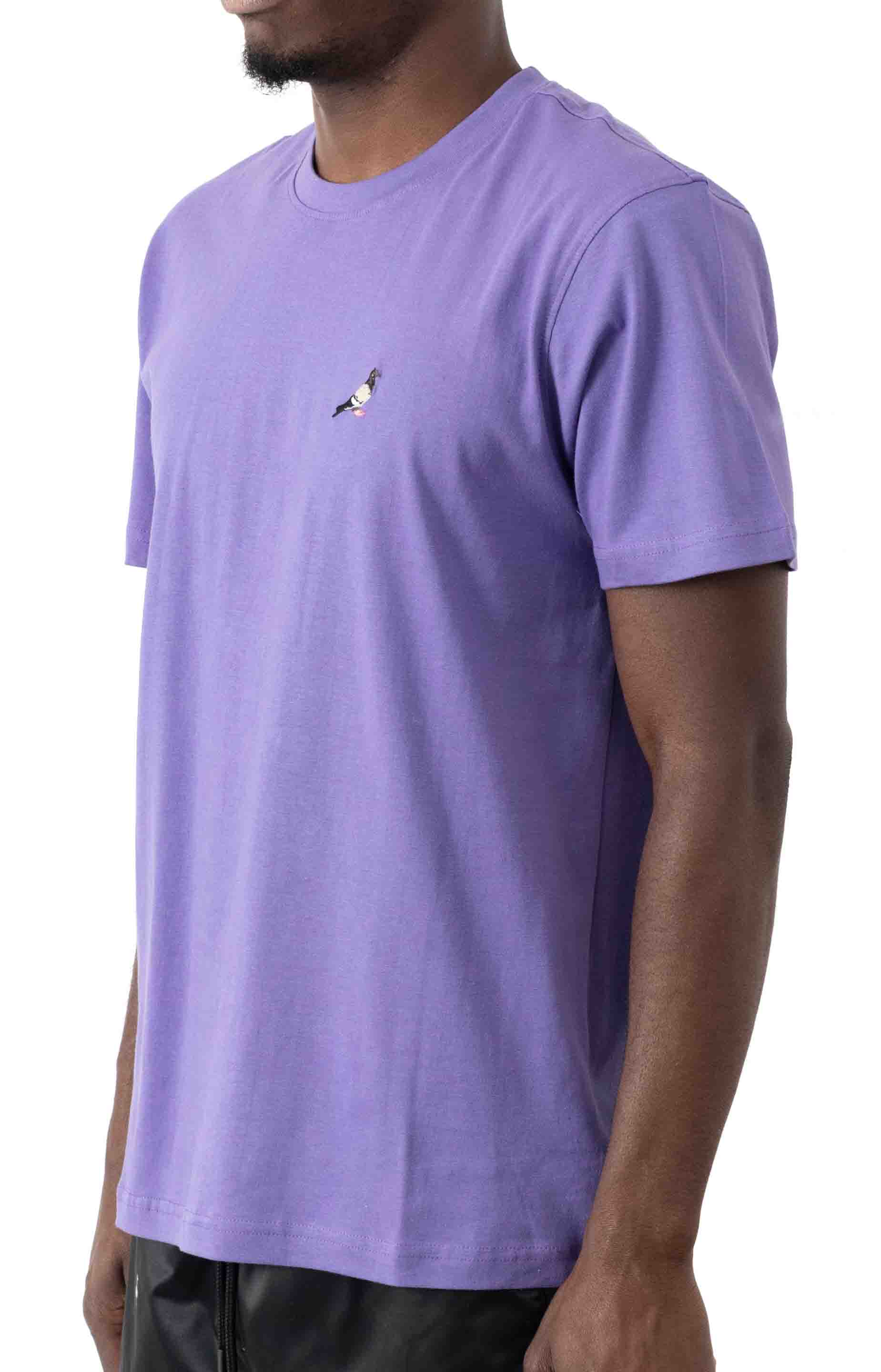 Embroidered Pigeon T-Shirt - Violet  2