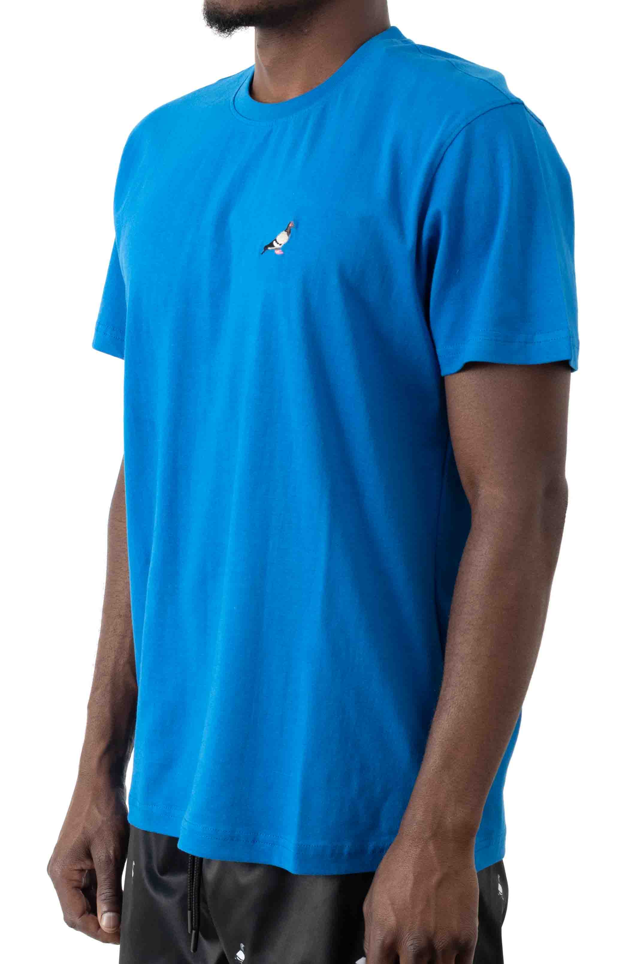 Embroidered Pigeon T-Shirt - Blue  2