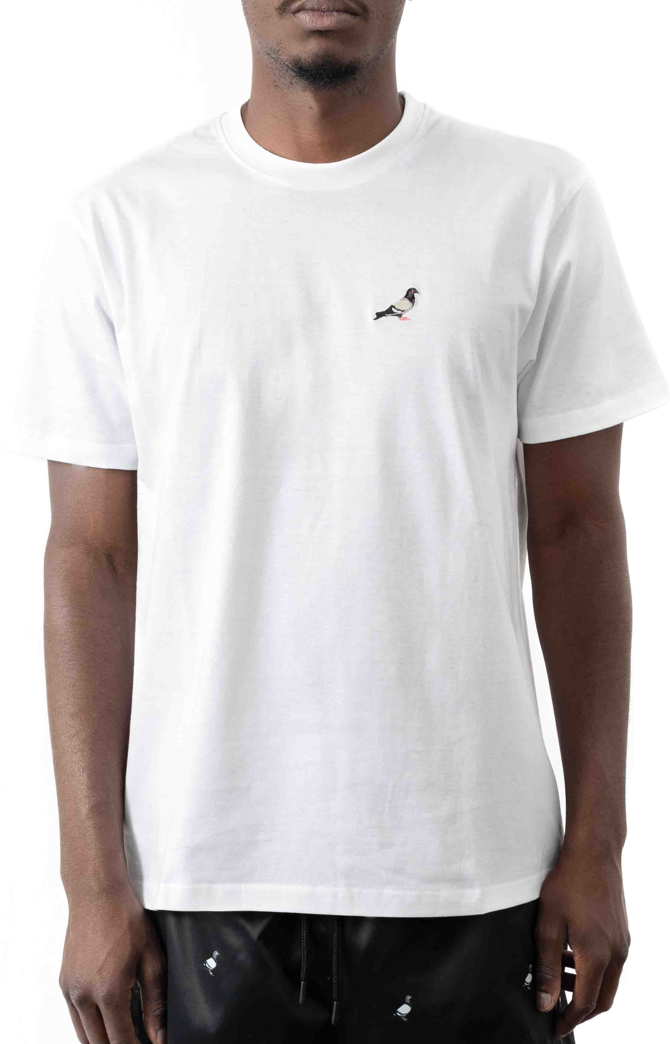 Embroidered Pigeon T-Shirt - White