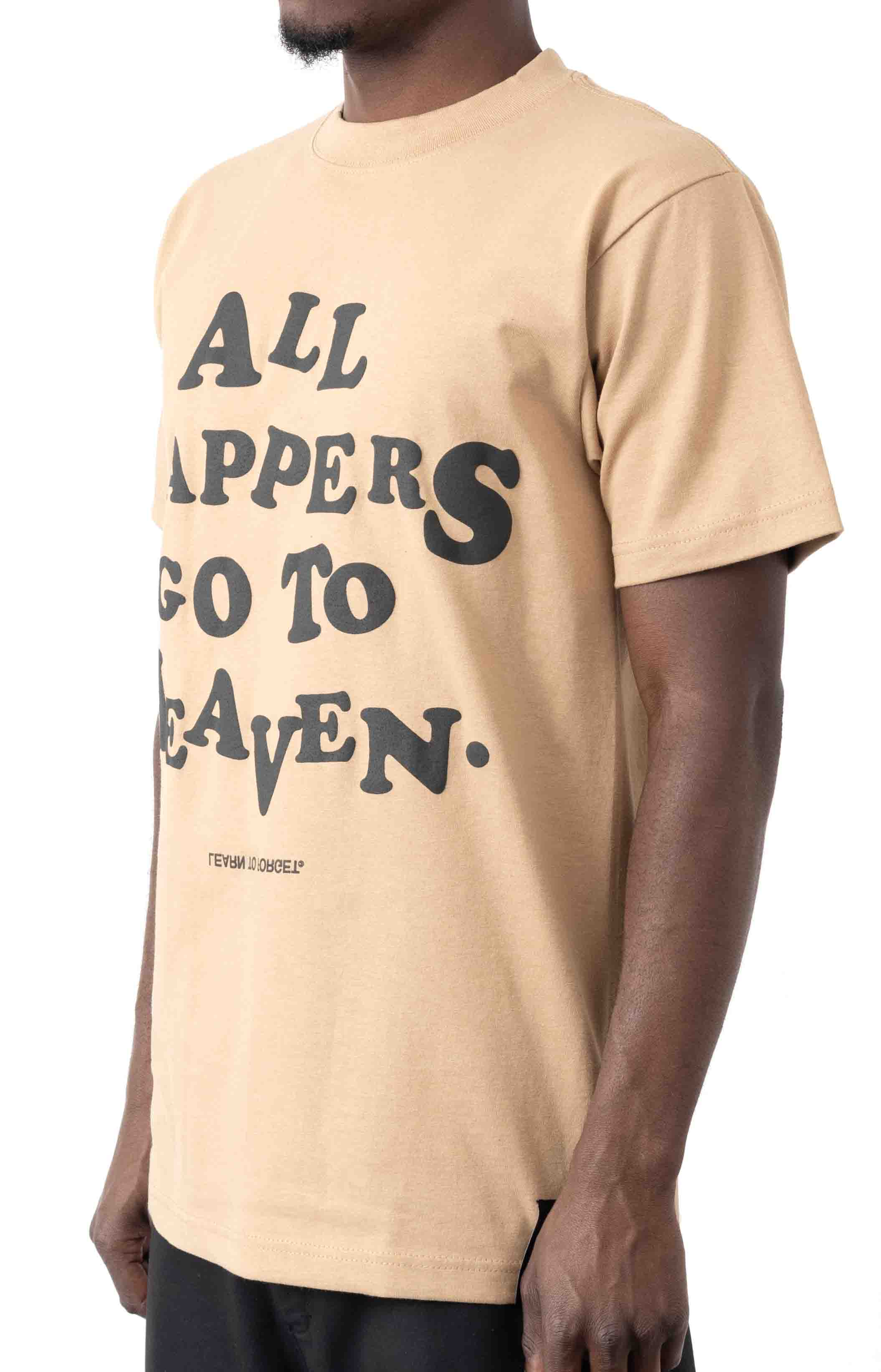 All Rappers Go To Heaven C/S T-Shirt - White  2
