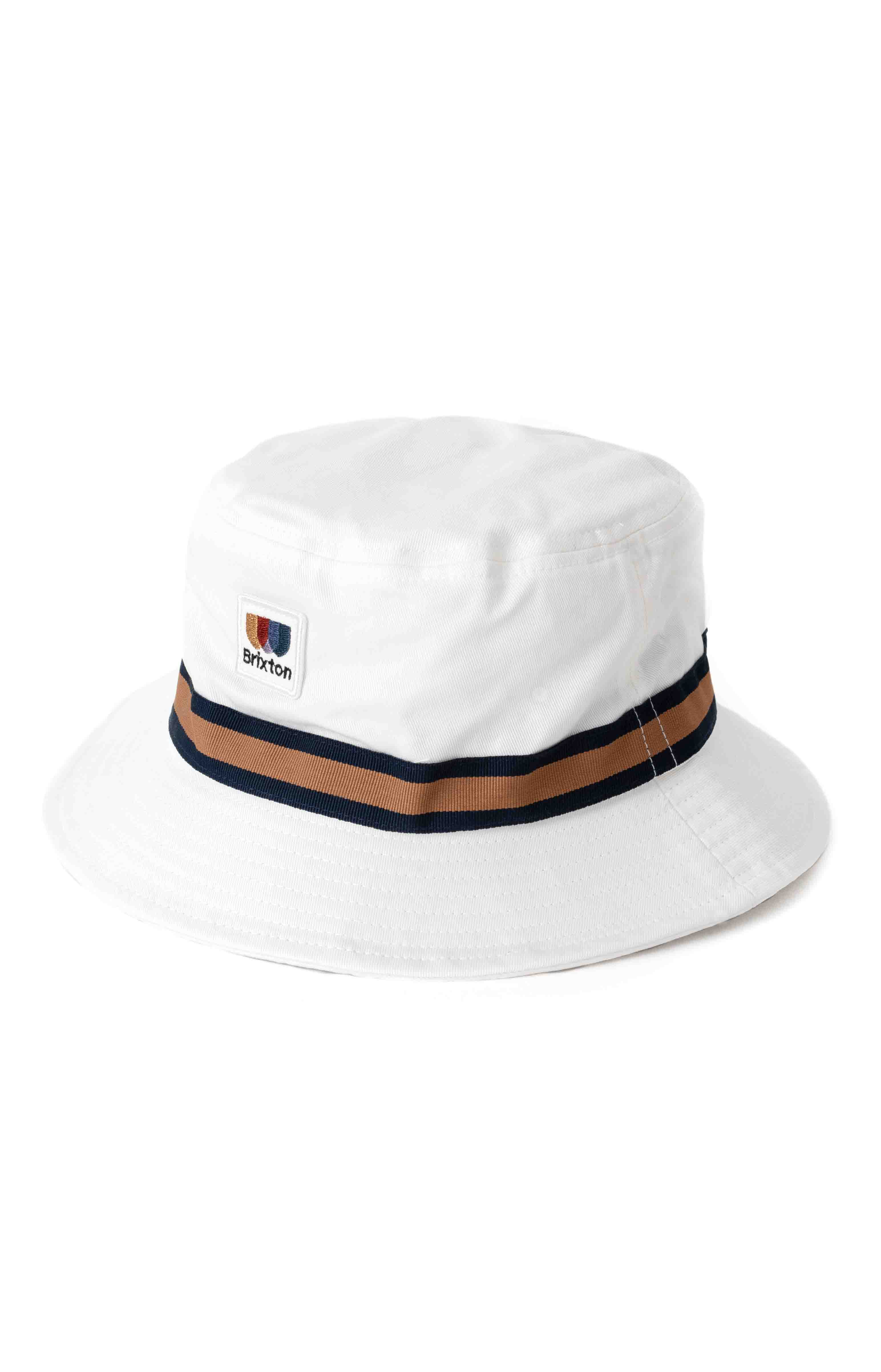 Alton Packable Bucket Hat - Off White/Washed Navy