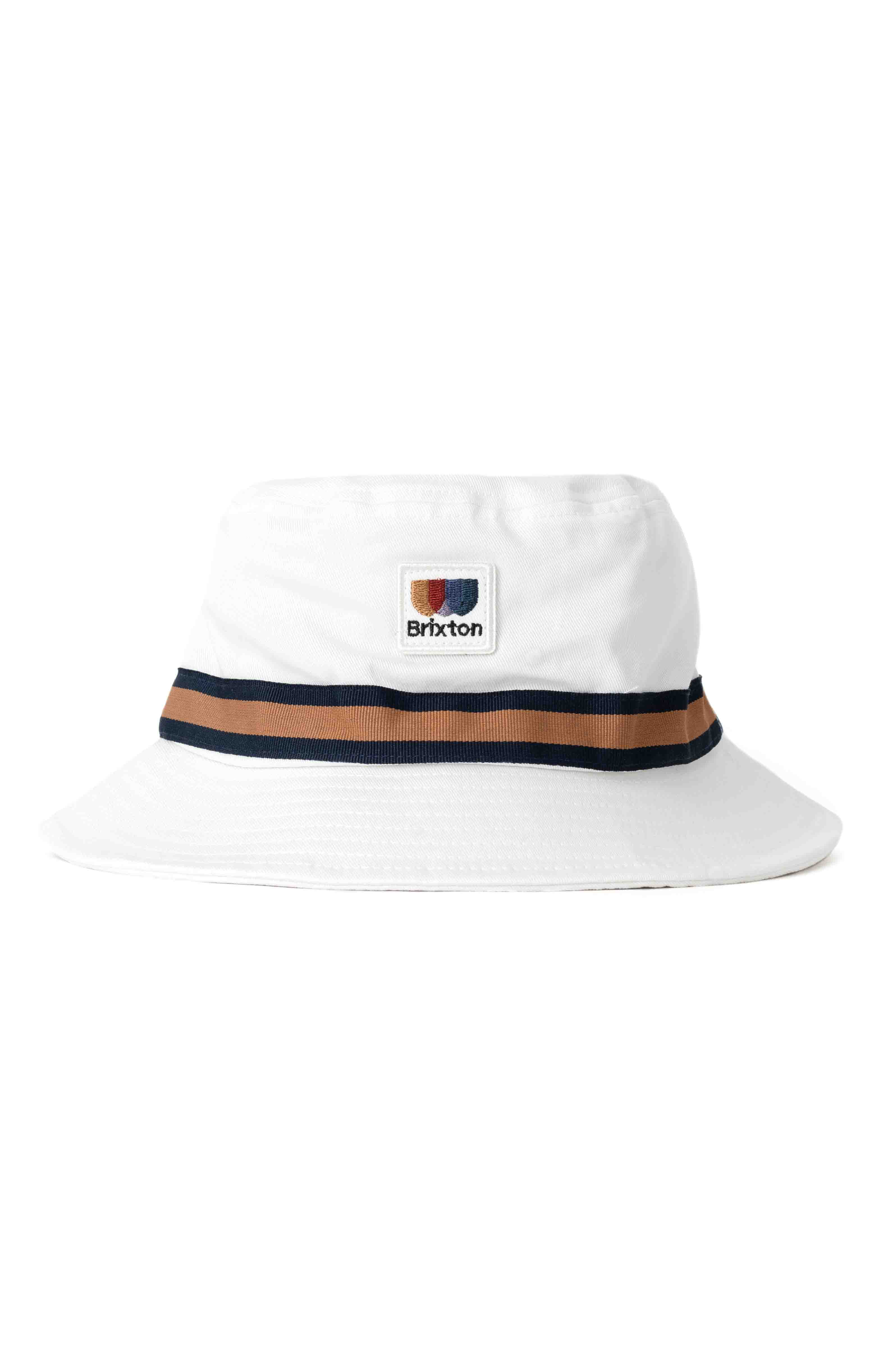Alton Packable Bucket Hat - Off White/Washed Navy 2