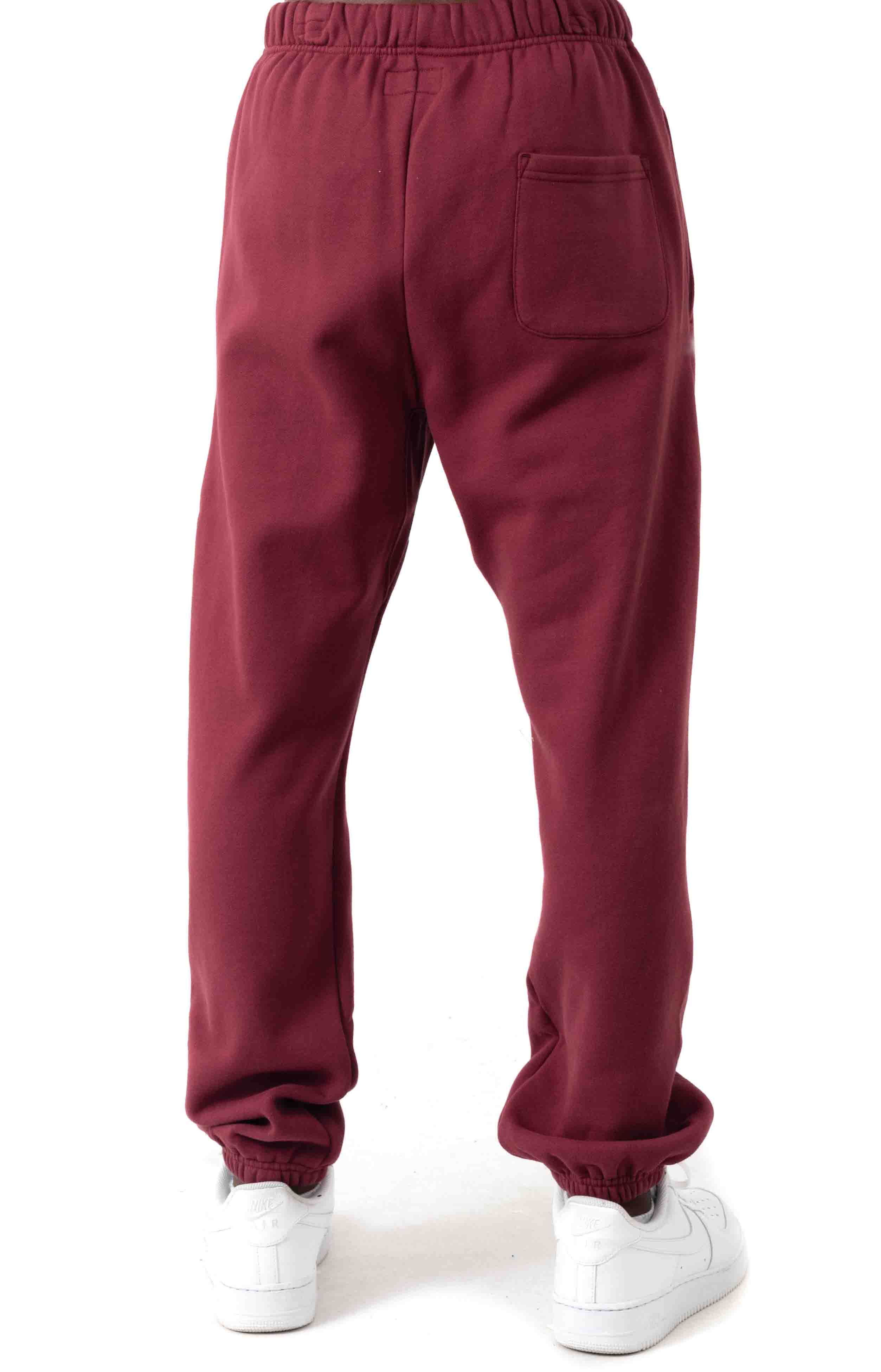 Butterfly Embroidered Sweatpants - Burgundy  3