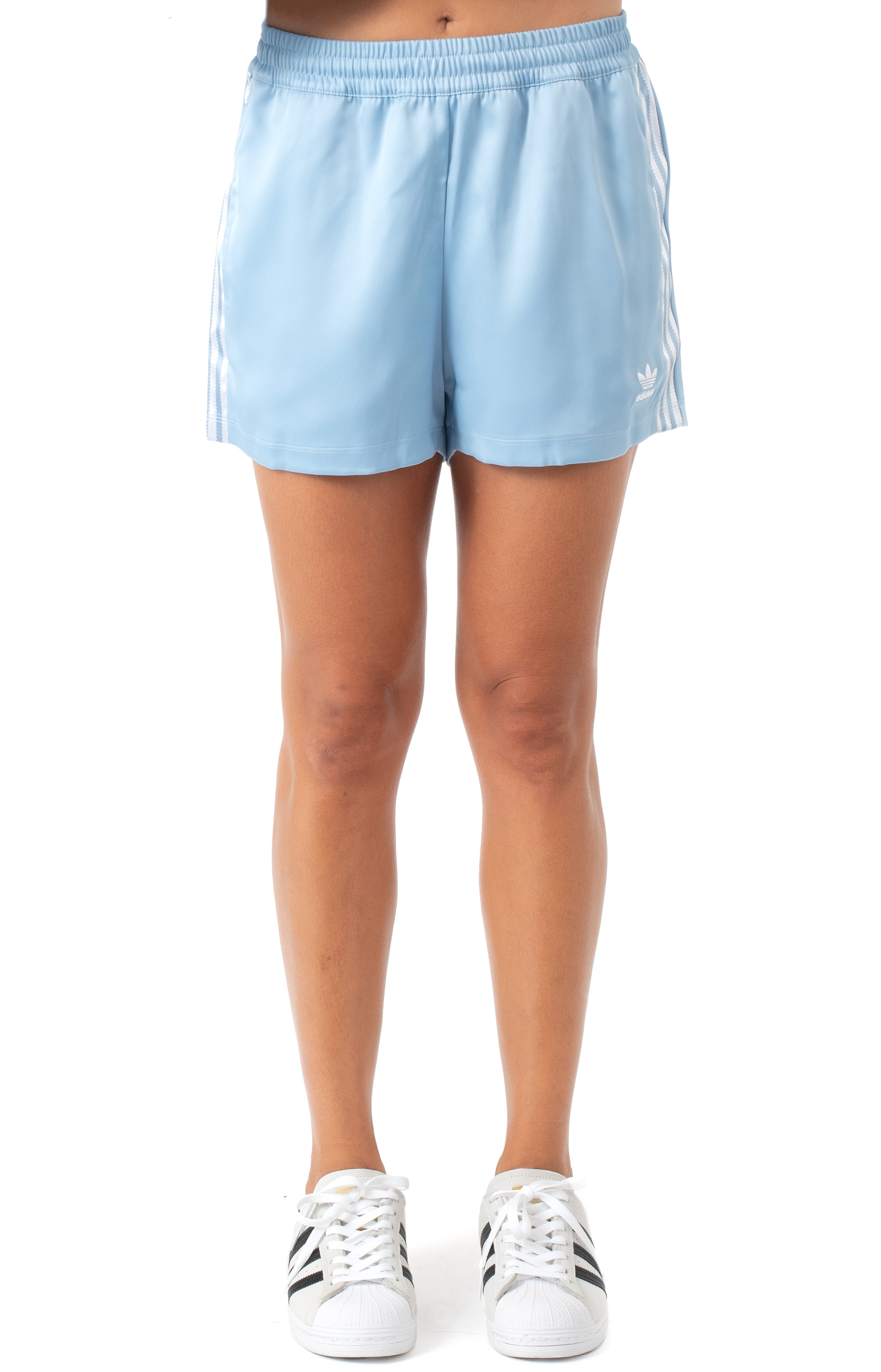 (H37808) 3 Stripe Shorts - Ambient Sky