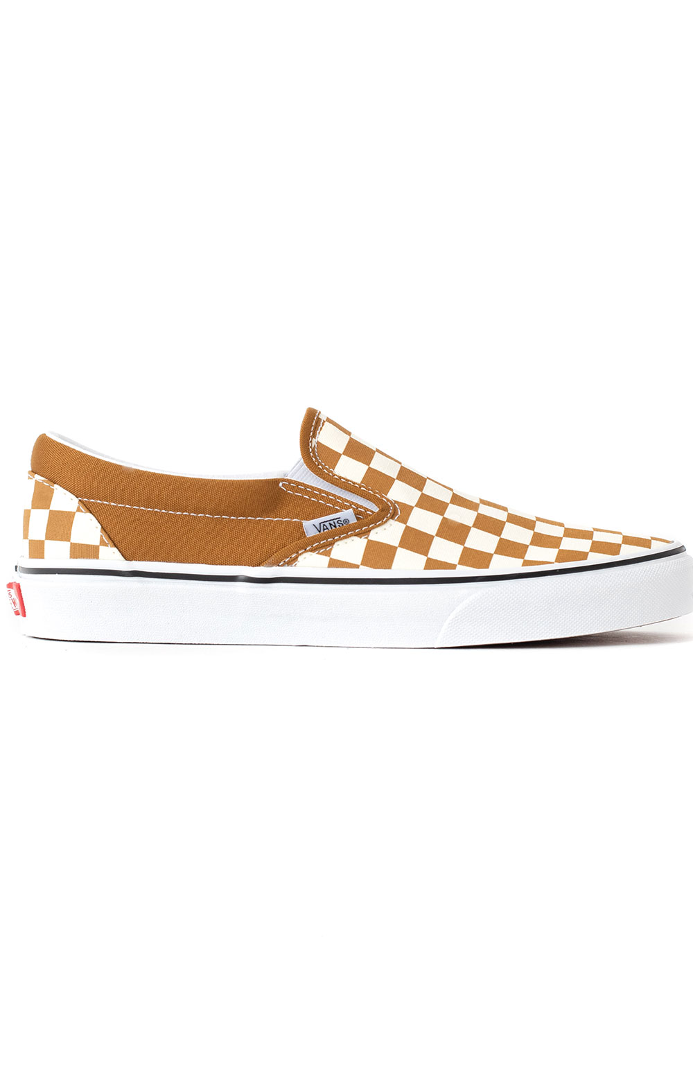 (3TB9HN) Checkerboard Classic Slip-On Shoes - Golden Brown