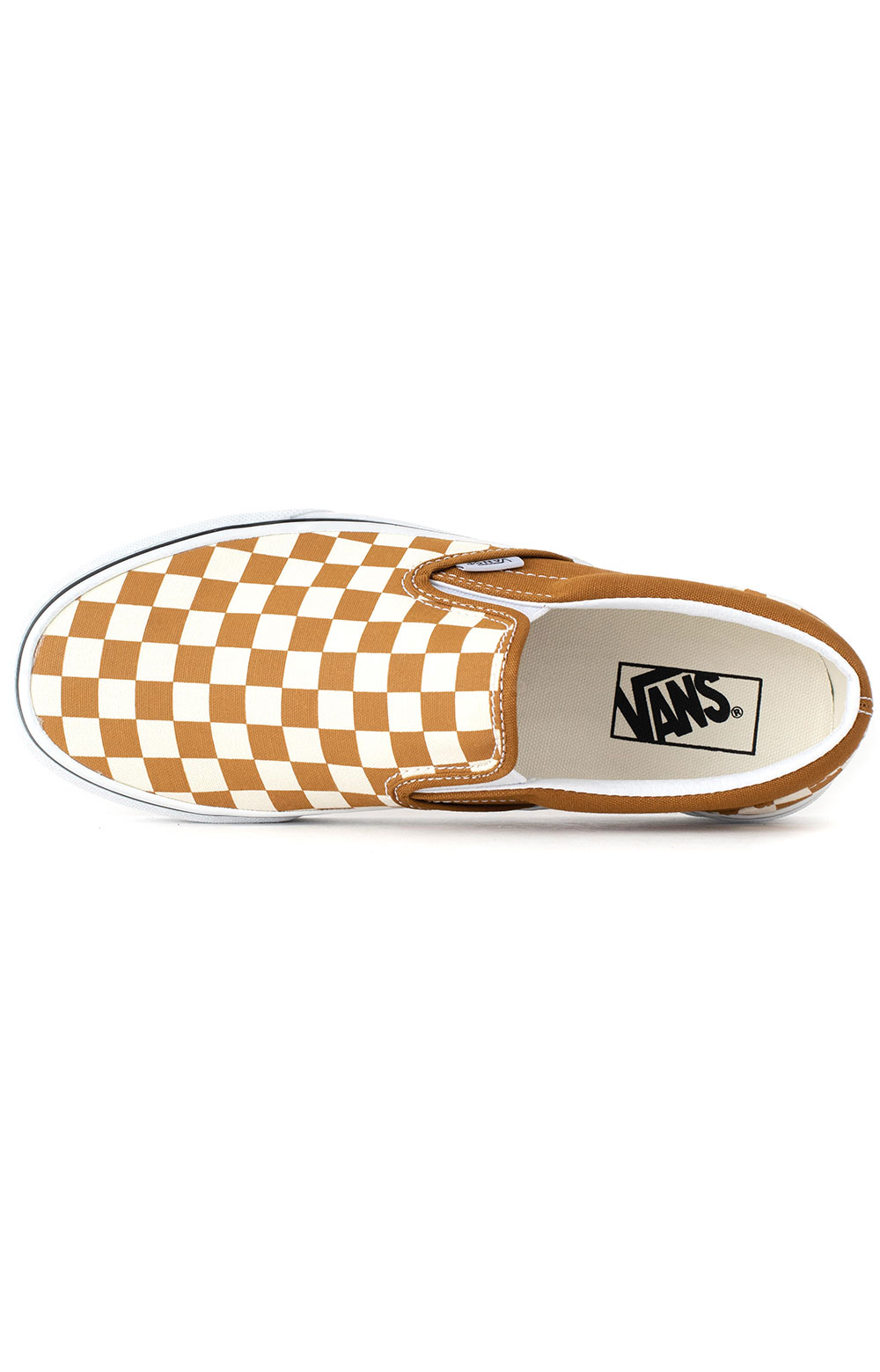 (3TB9HN) Checkerboard Classic Slip-On Shoes - Golden Brown  2