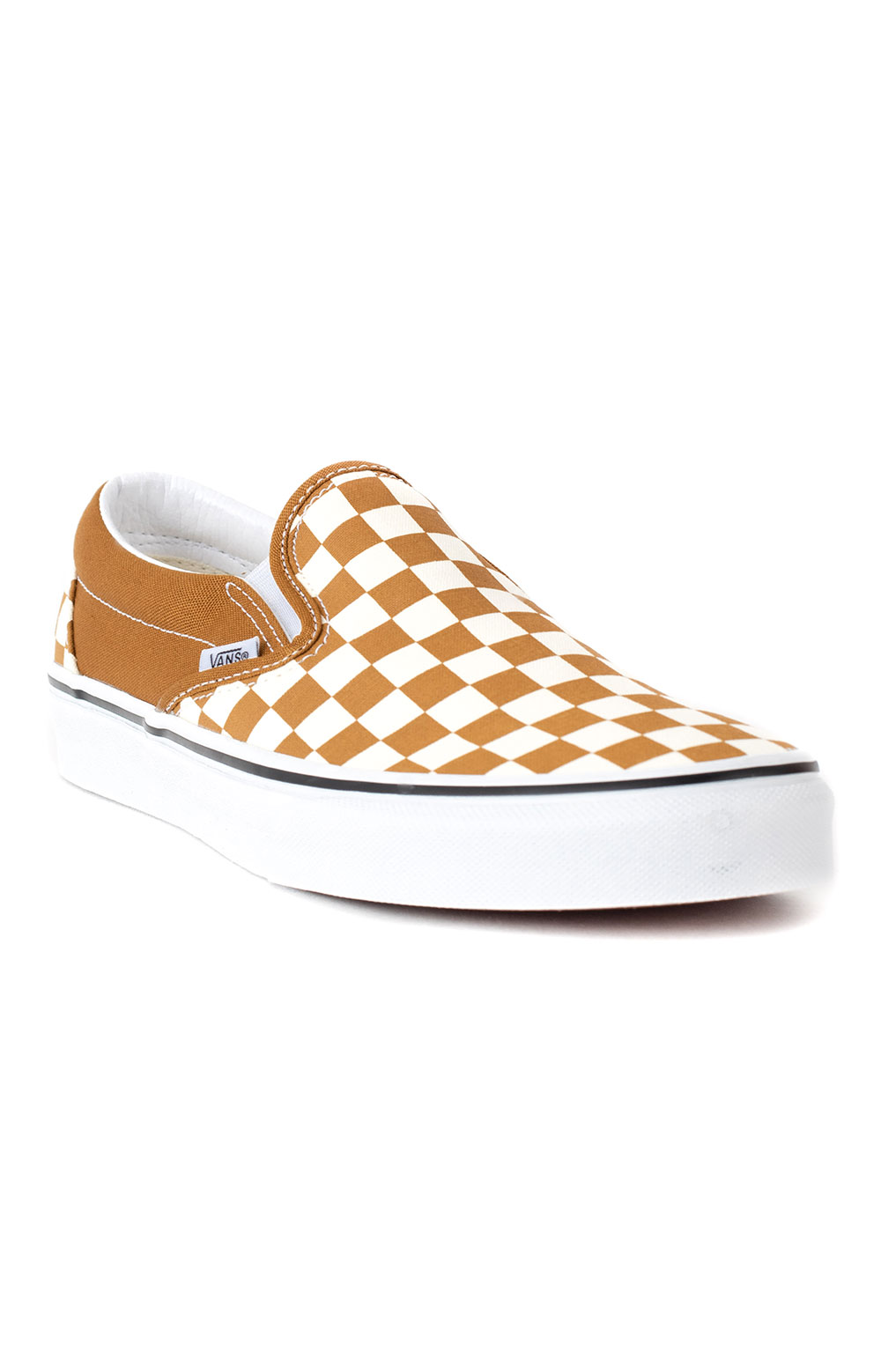 (3TB9HN) Checkerboard Classic Slip-On Shoes - Golden Brown  3
