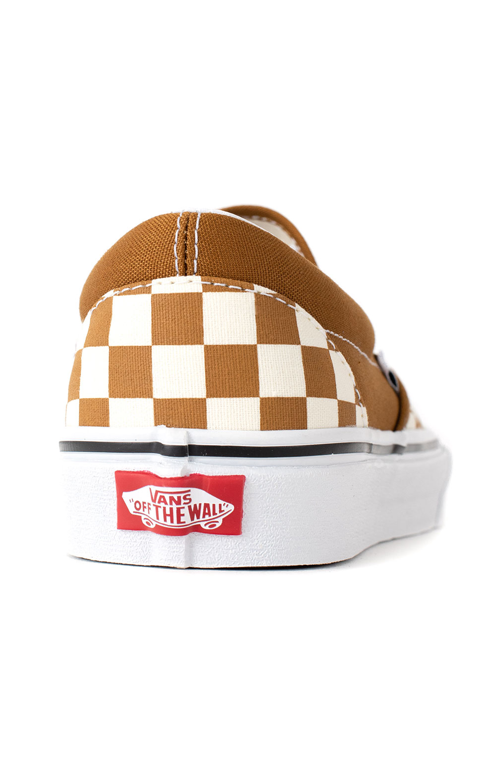 (3TB9HN) Checkerboard Classic Slip-On Shoes - Golden Brown  5