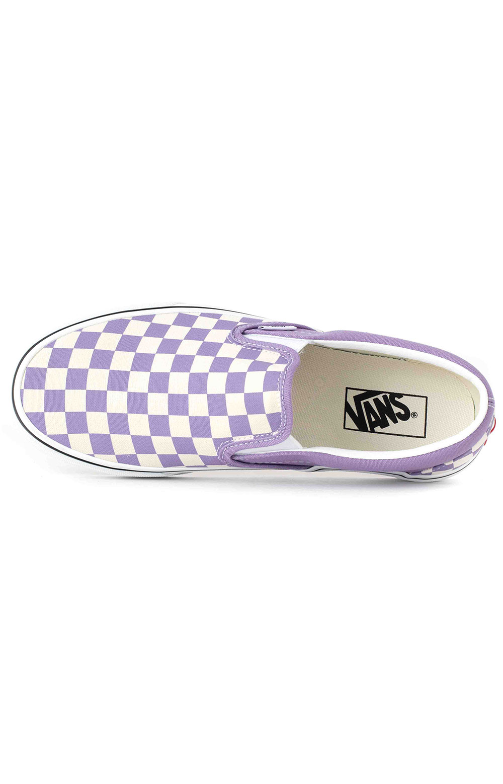 (3TB9HM) Checkerboard Classic Slip-On Shoes - Chalk Violet  2