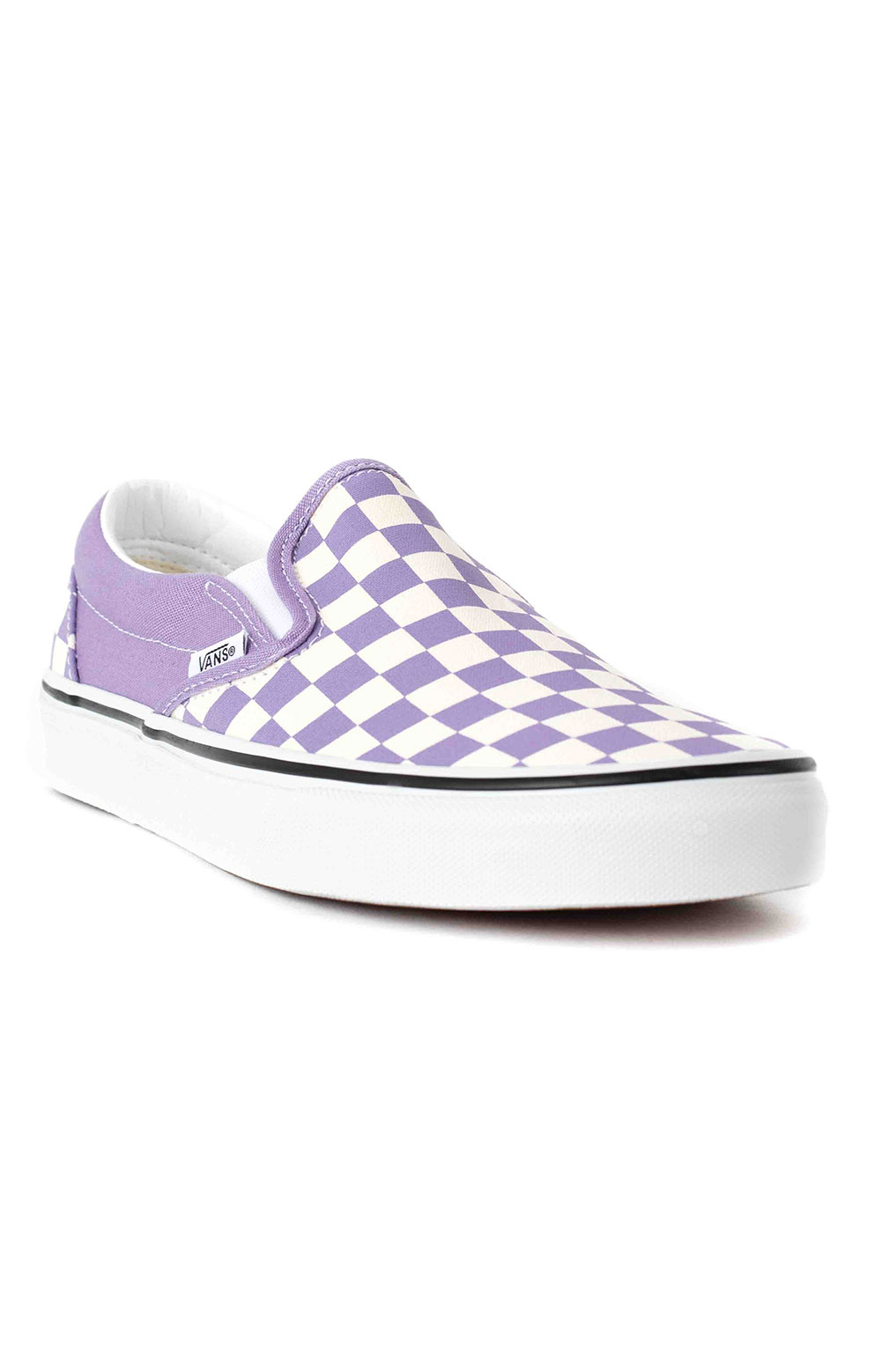 (3TB9HM) Checkerboard Classic Slip-On Shoes - Chalk Violet  3